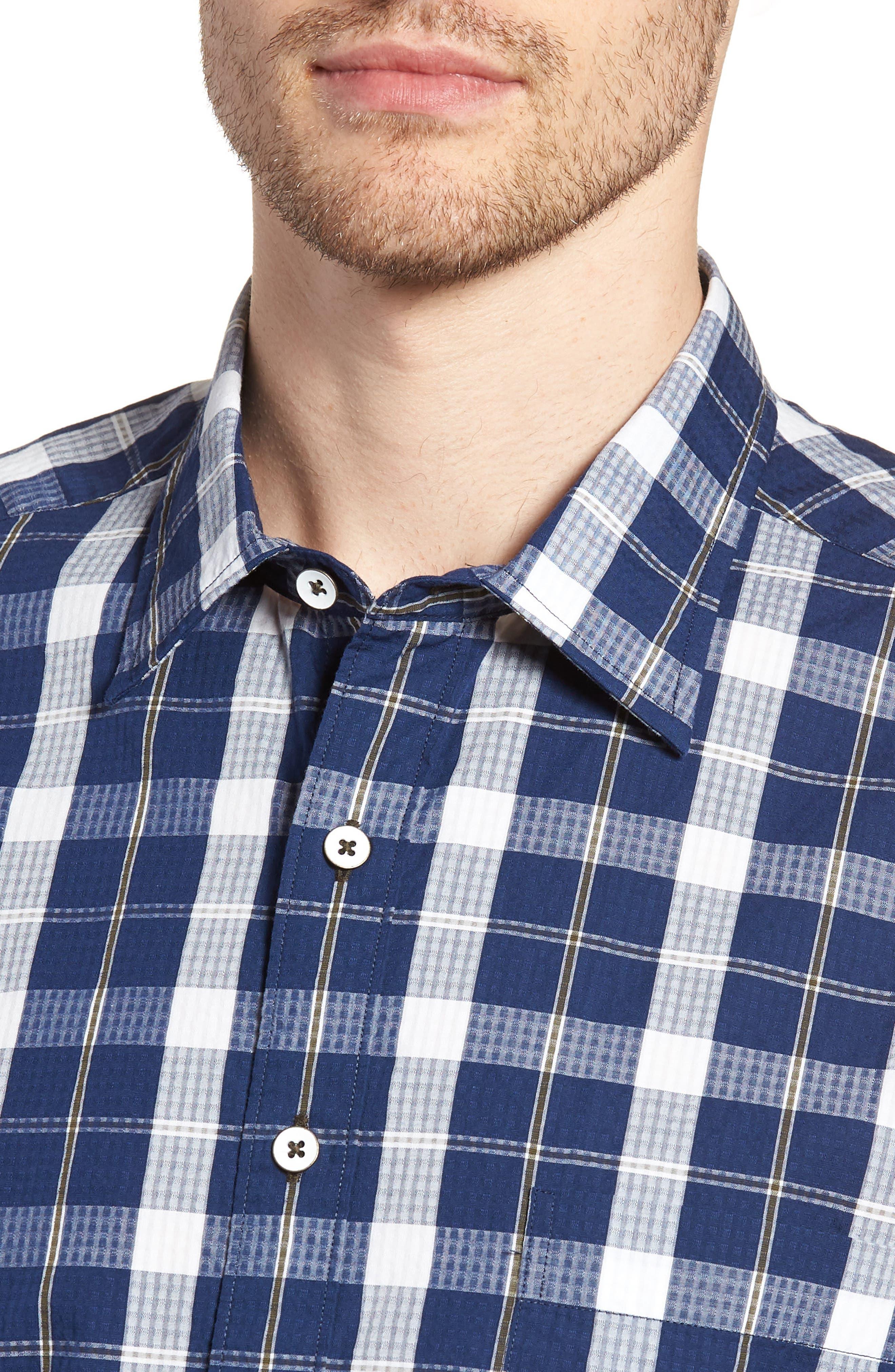 Bradford Regular Fit Sport Shirt,                             Alternate thumbnail 4, color,                             410