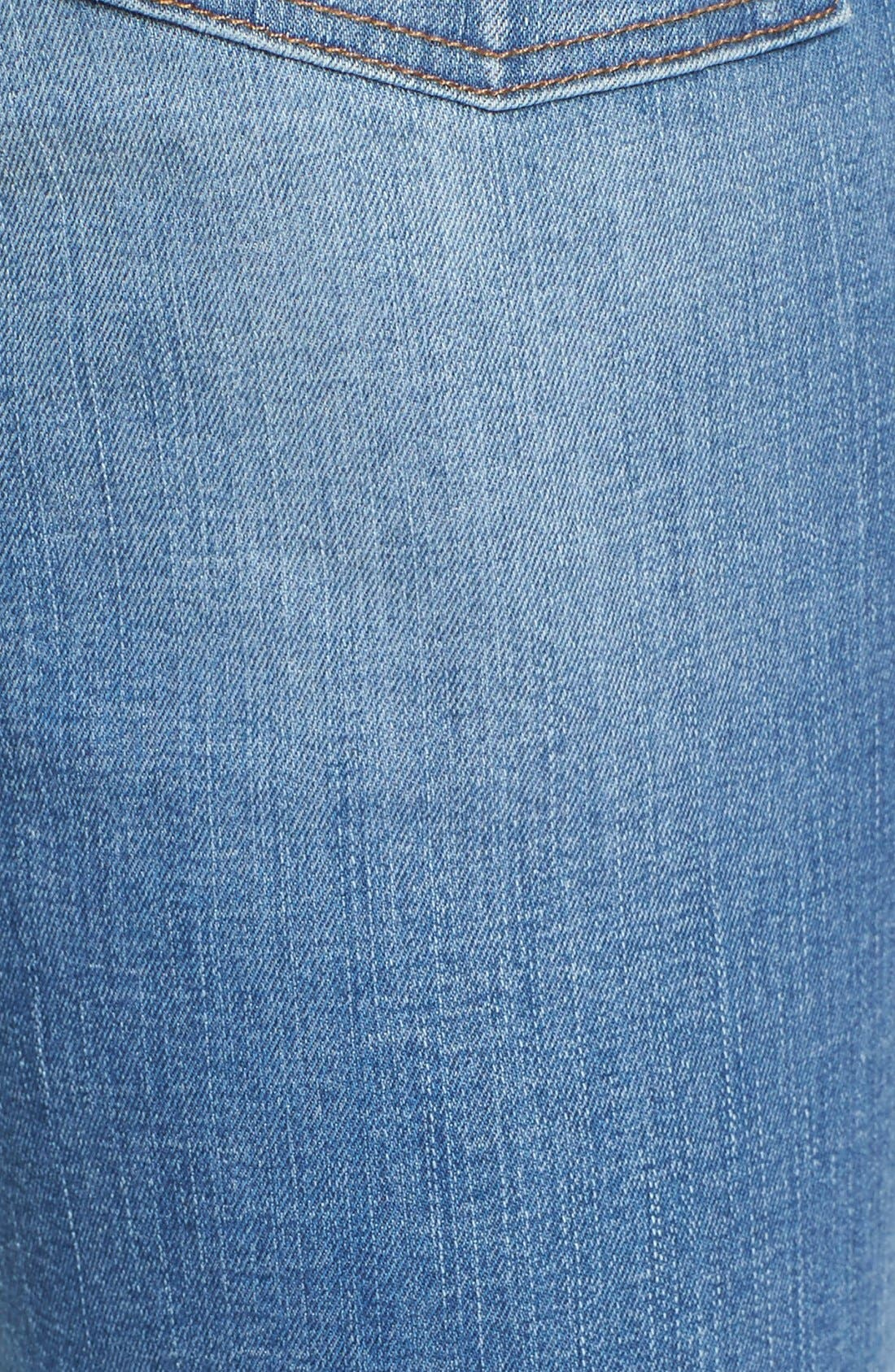 'High Riser - Button Through' Crop Skinny Skinny Jeans,                             Alternate thumbnail 3, color,                             406