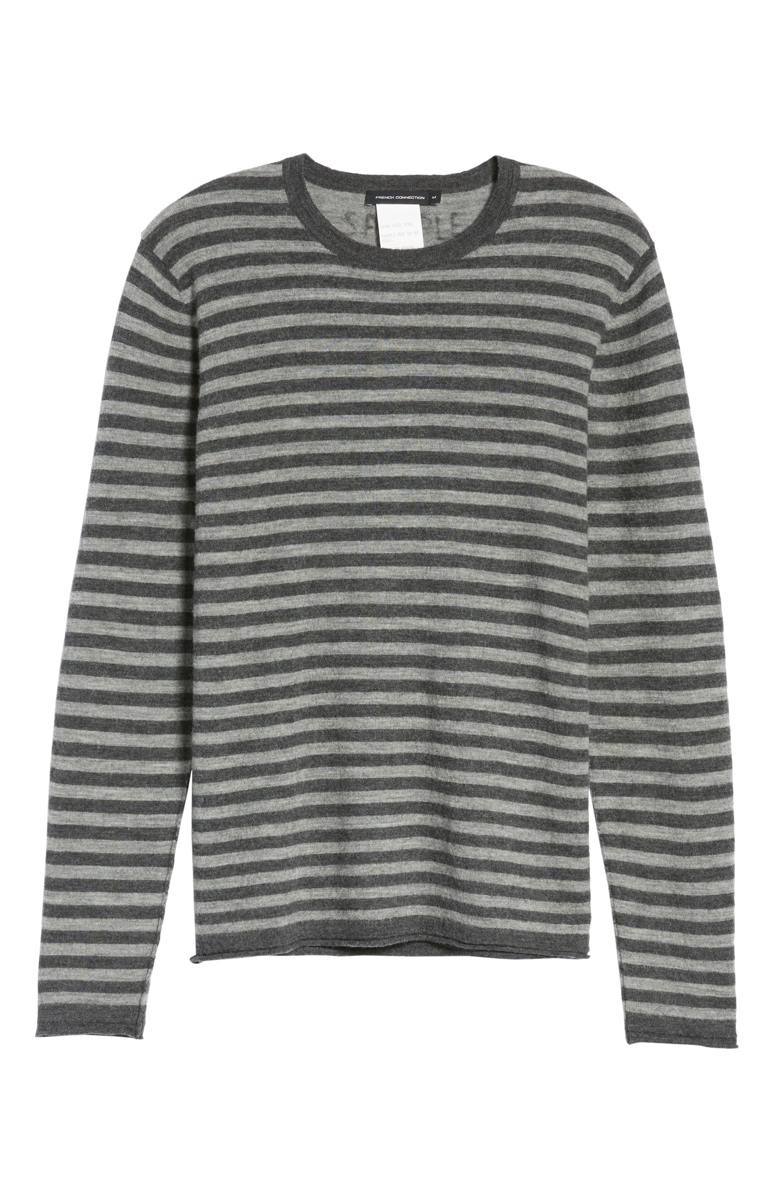 Double Stripe Wool Sweater,                             Alternate thumbnail 6, color,                             037