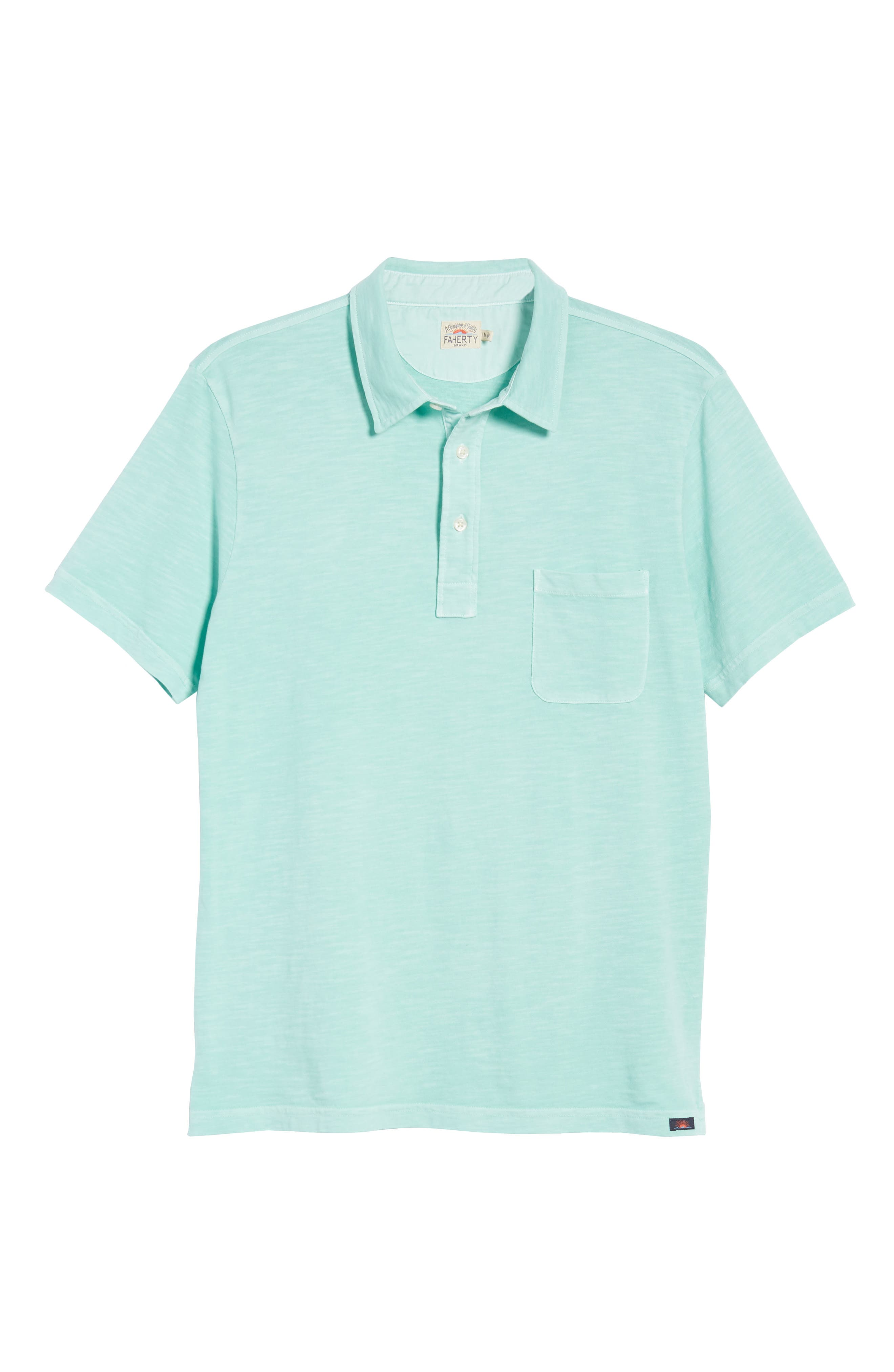 Sunwashed Polo,                             Alternate thumbnail 6, color,                             WATER BLUE