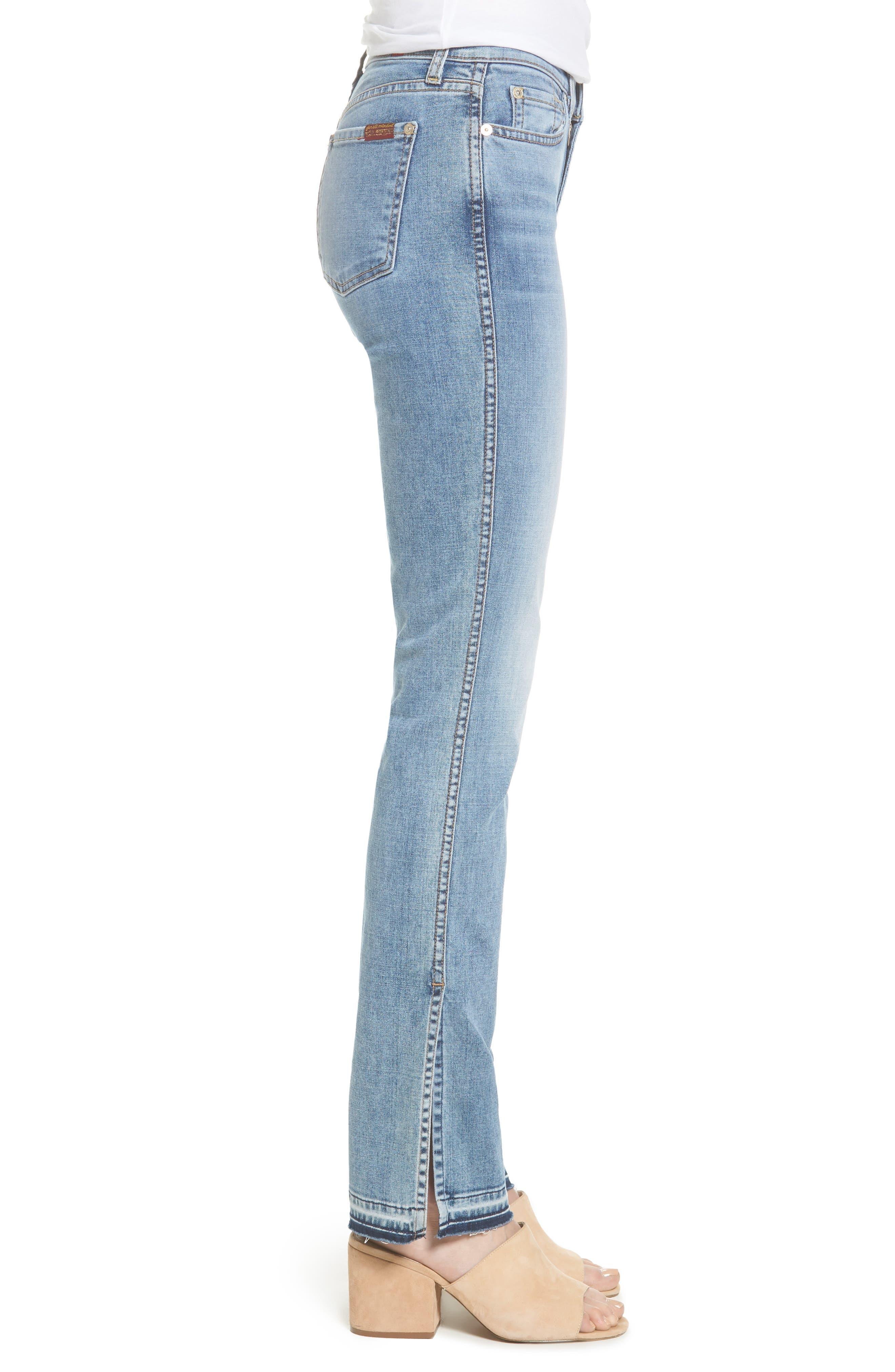 Dylan Split Hem Straight Leg Jeans,                             Alternate thumbnail 3, color,                             400