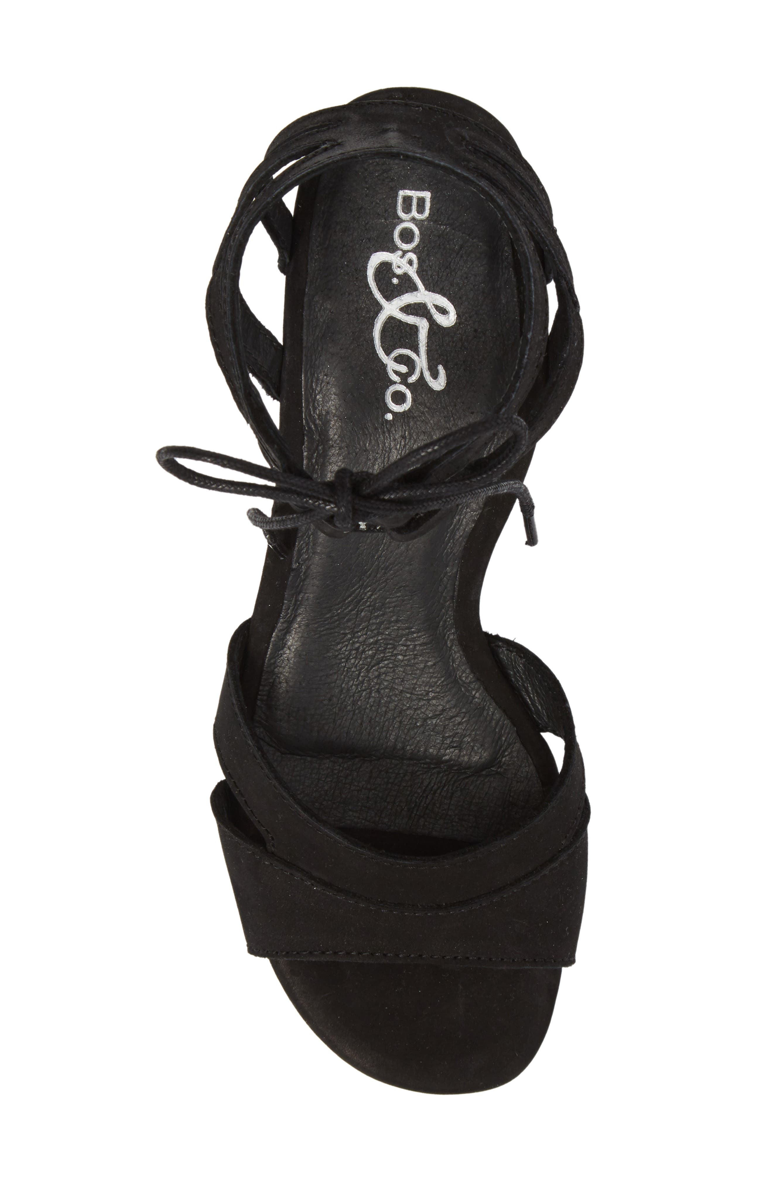 Zorita Sandal,                             Alternate thumbnail 5, color,                             BLACK NUBUCK LEATHER