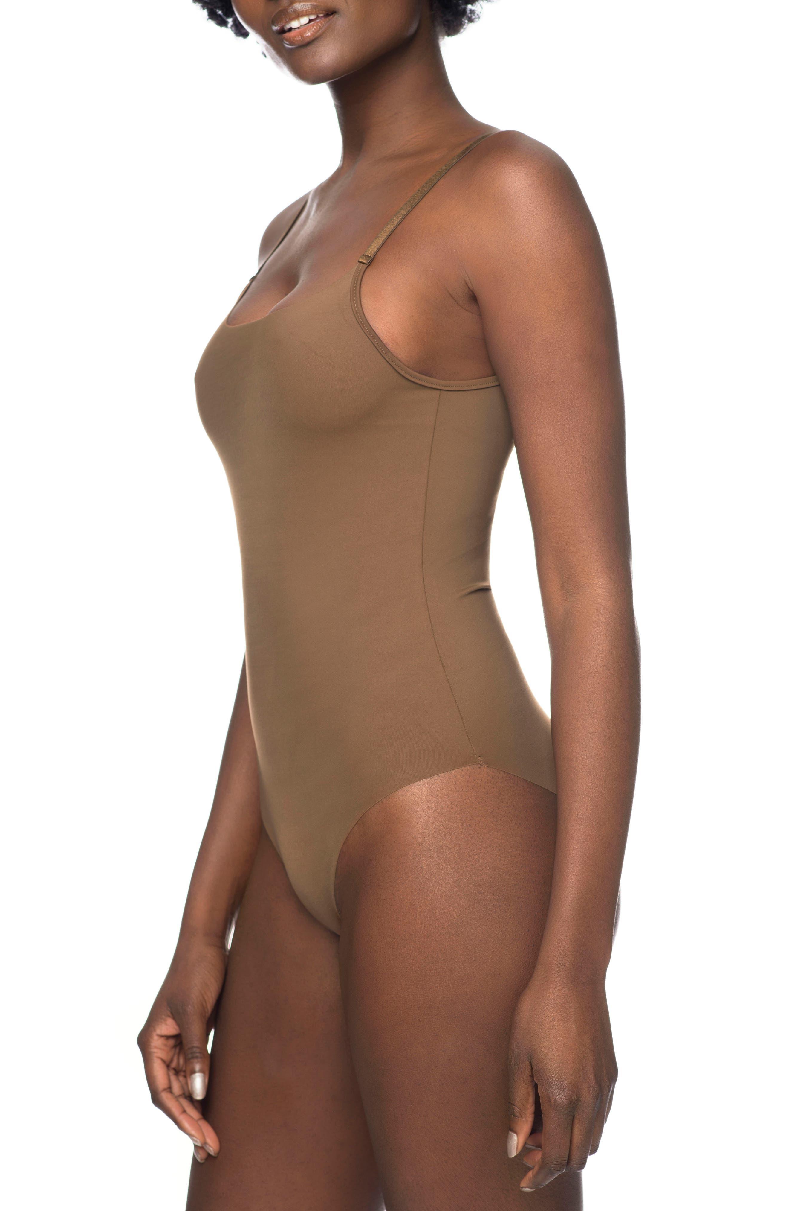 Naked Bodysuit,                             Alternate thumbnail 3, color,                             BERRY