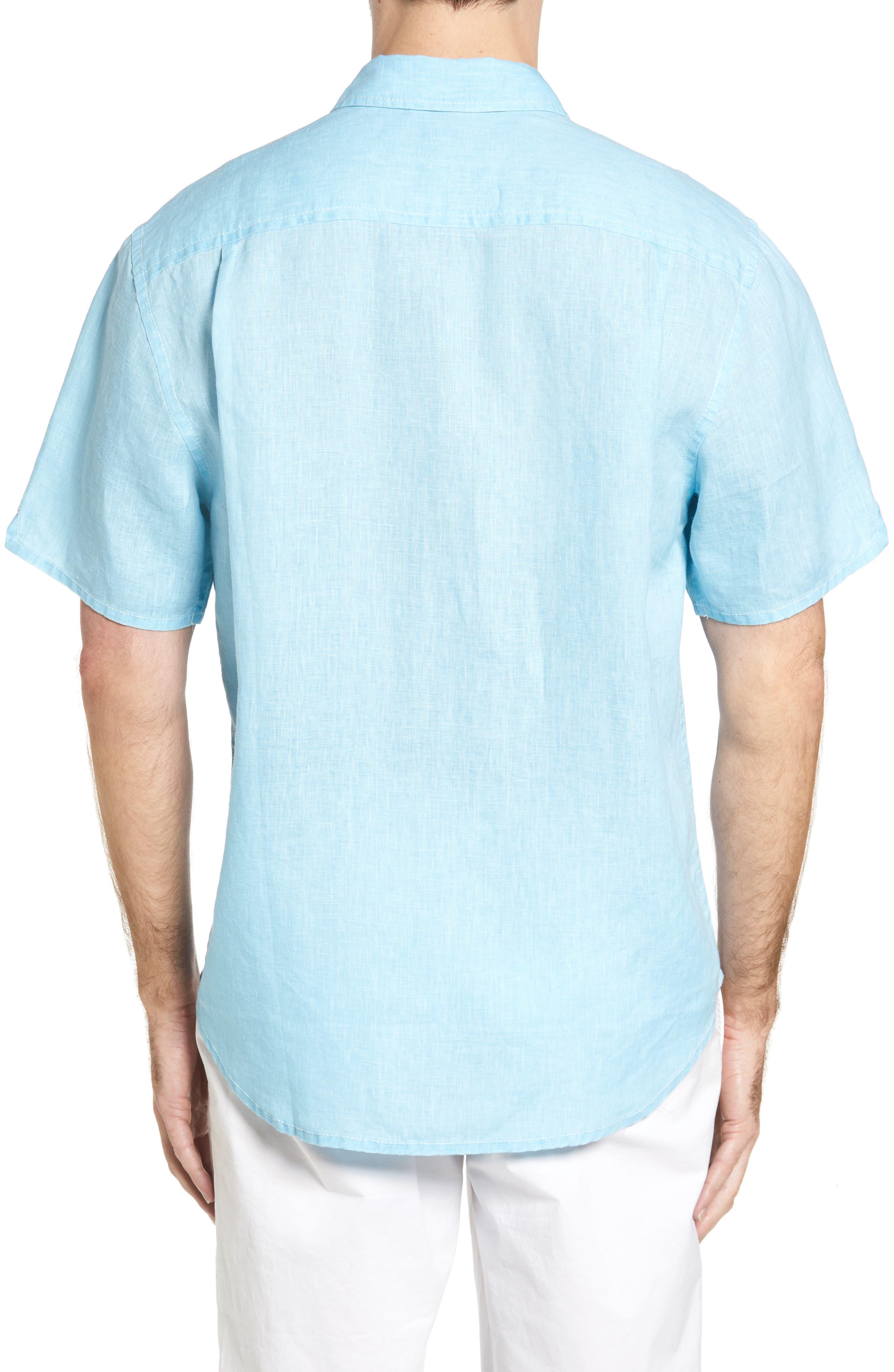 Seaglass Breezer Short Sleeve Linen Sport Shirt,                             Alternate thumbnail 27, color,