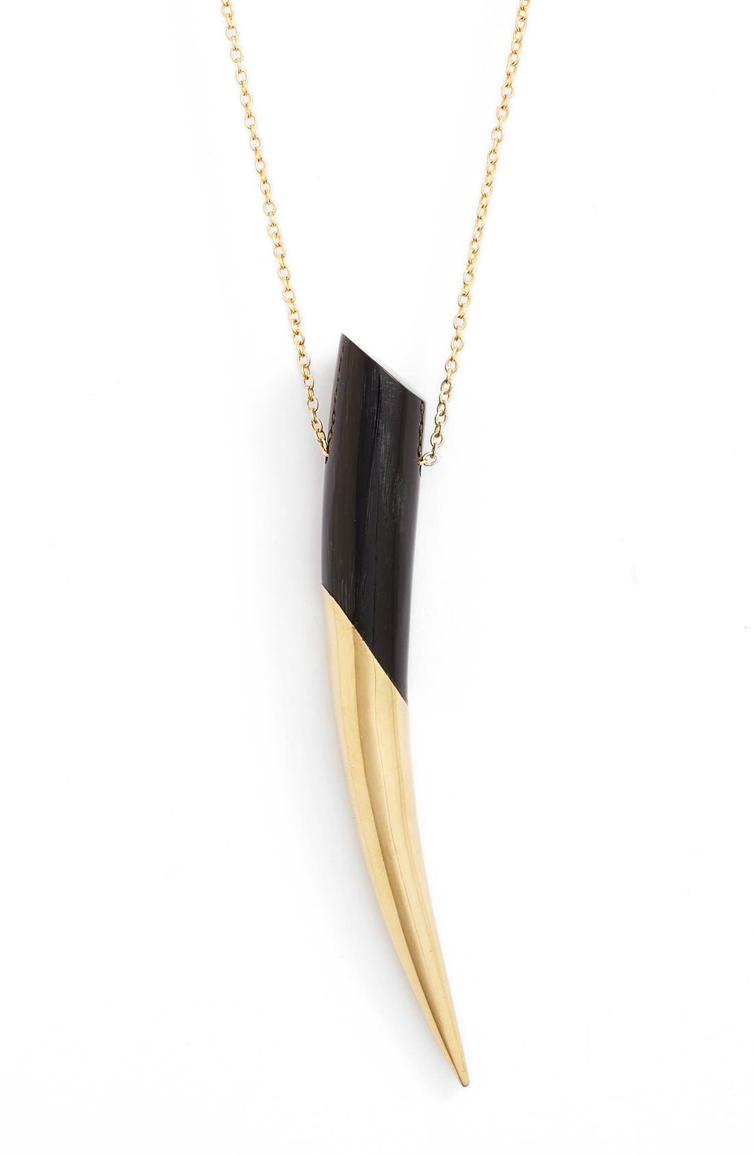Dalili Horn Pendant Necklace,                             Alternate thumbnail 2, color,                             005