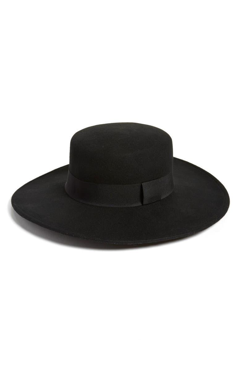 Hinge Flat Brim Wool Hat  659f8774bfb