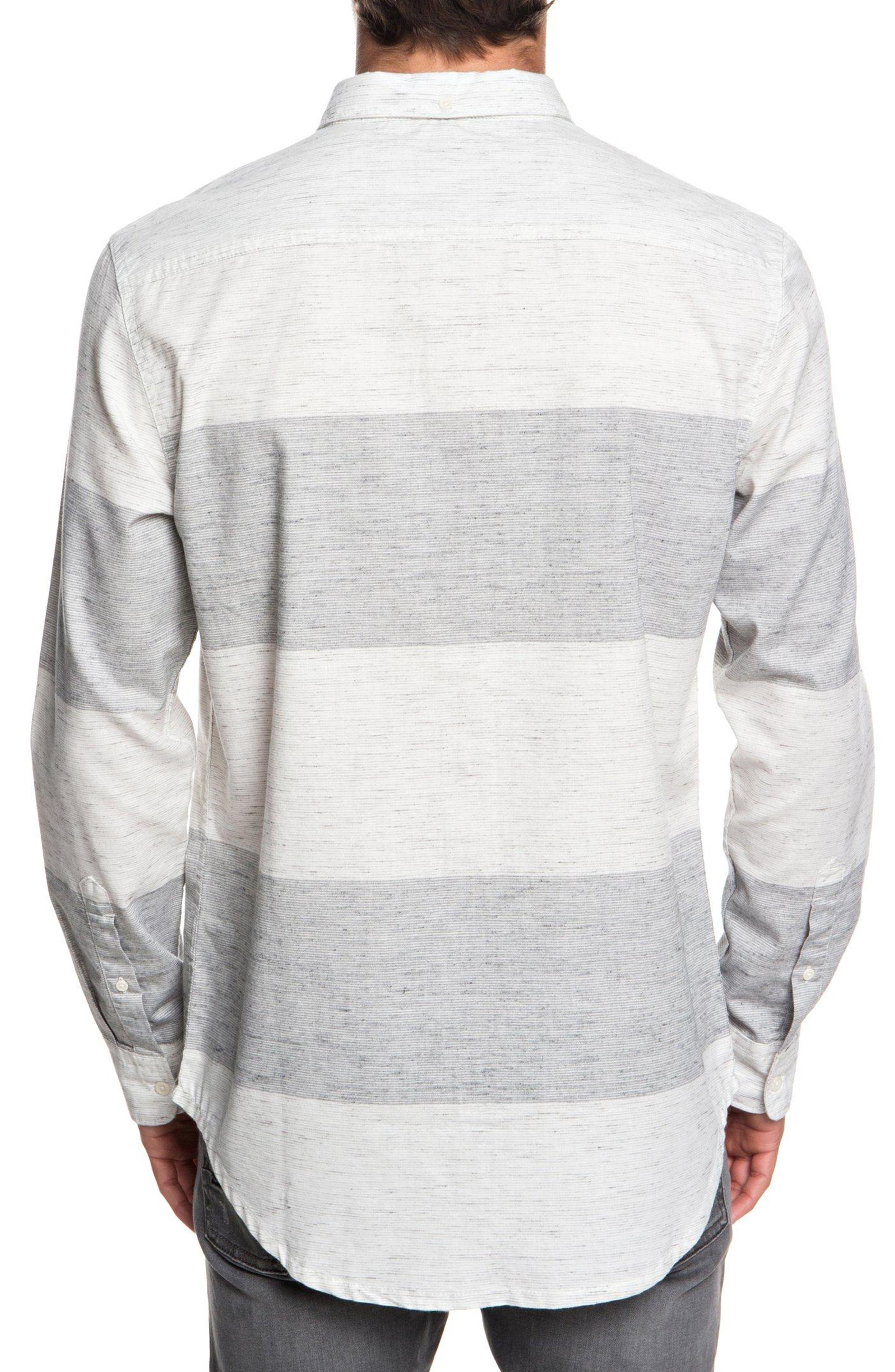 Minoo Valley Striped Shirt,                             Alternate thumbnail 2, color,                             IRON GATE MARBLE NEPPY