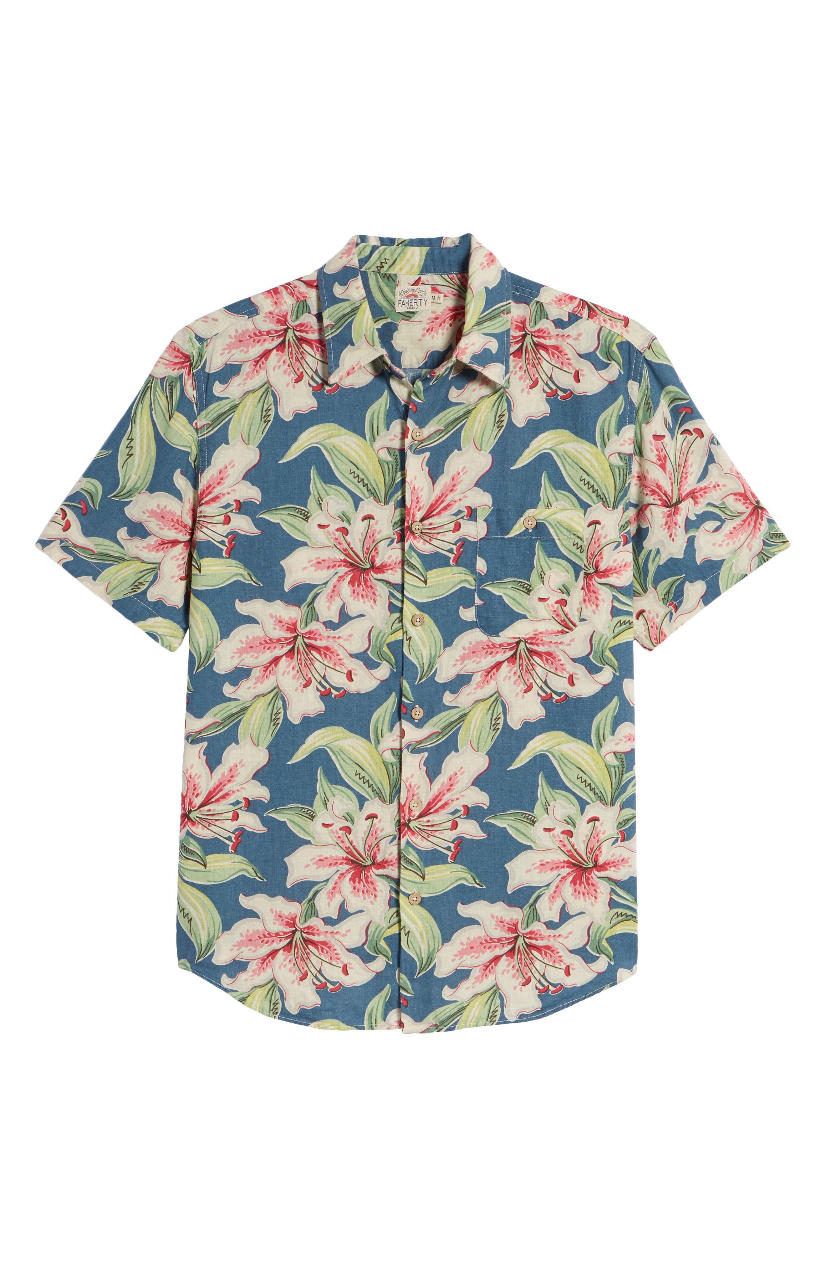 Tropical Atoll Sport Shirt,                             Alternate thumbnail 6, color,                             400