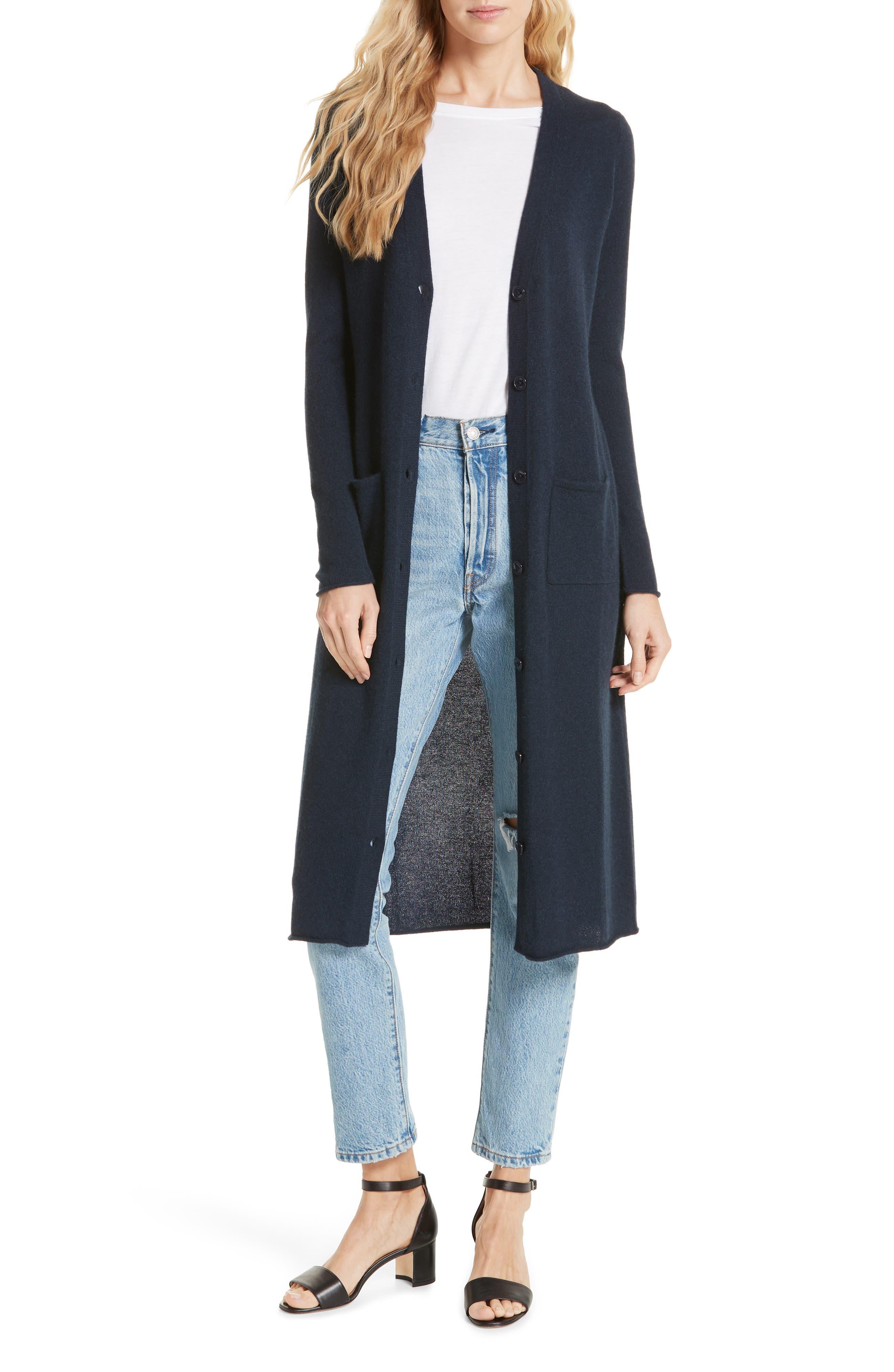 AUTUMN CASHMERE | Women's Autumn Cashmere Long Cashmere Cardigan | Goxip