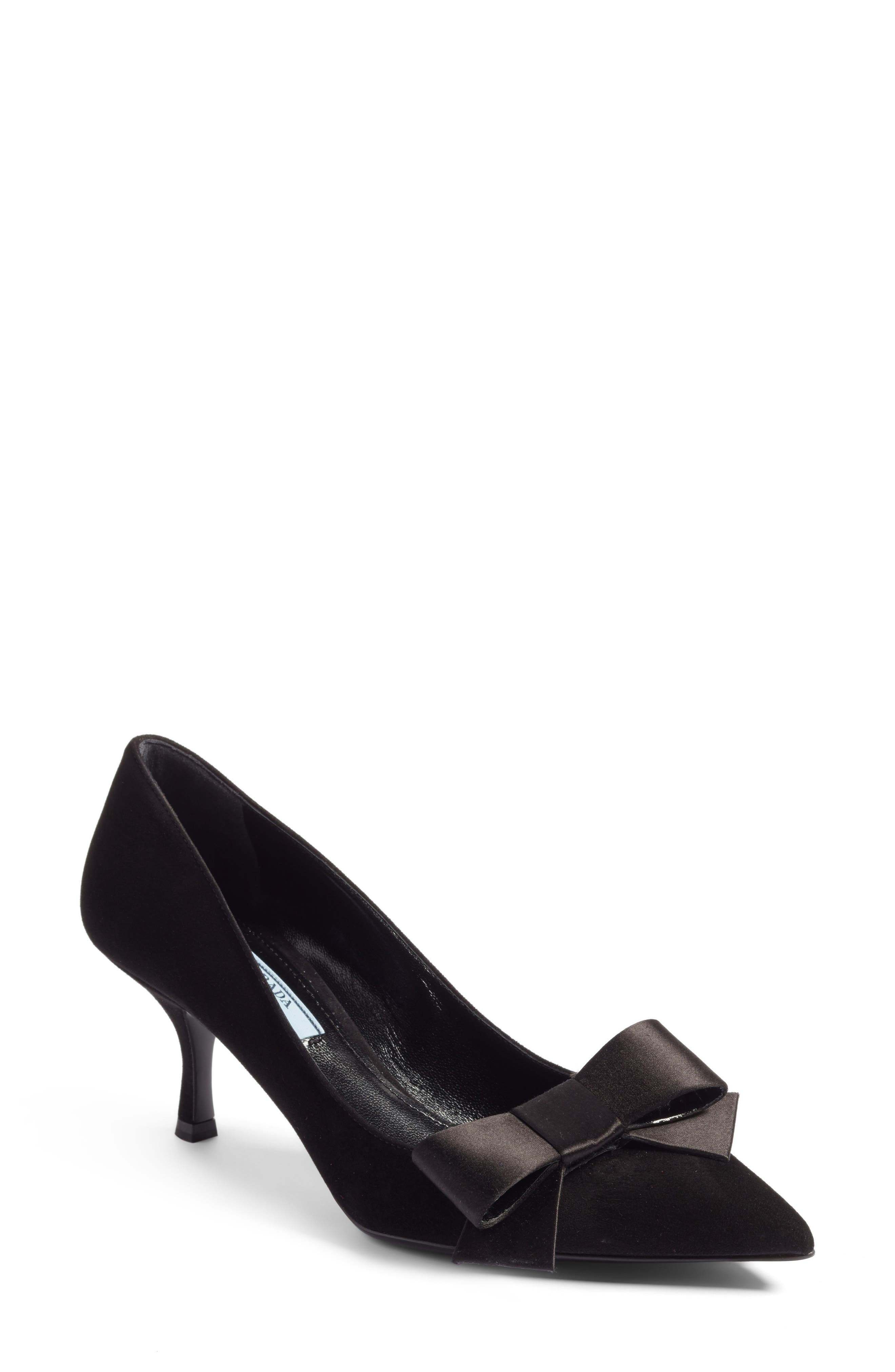 Bow Pointy Toe Pump,                             Main thumbnail 1, color,