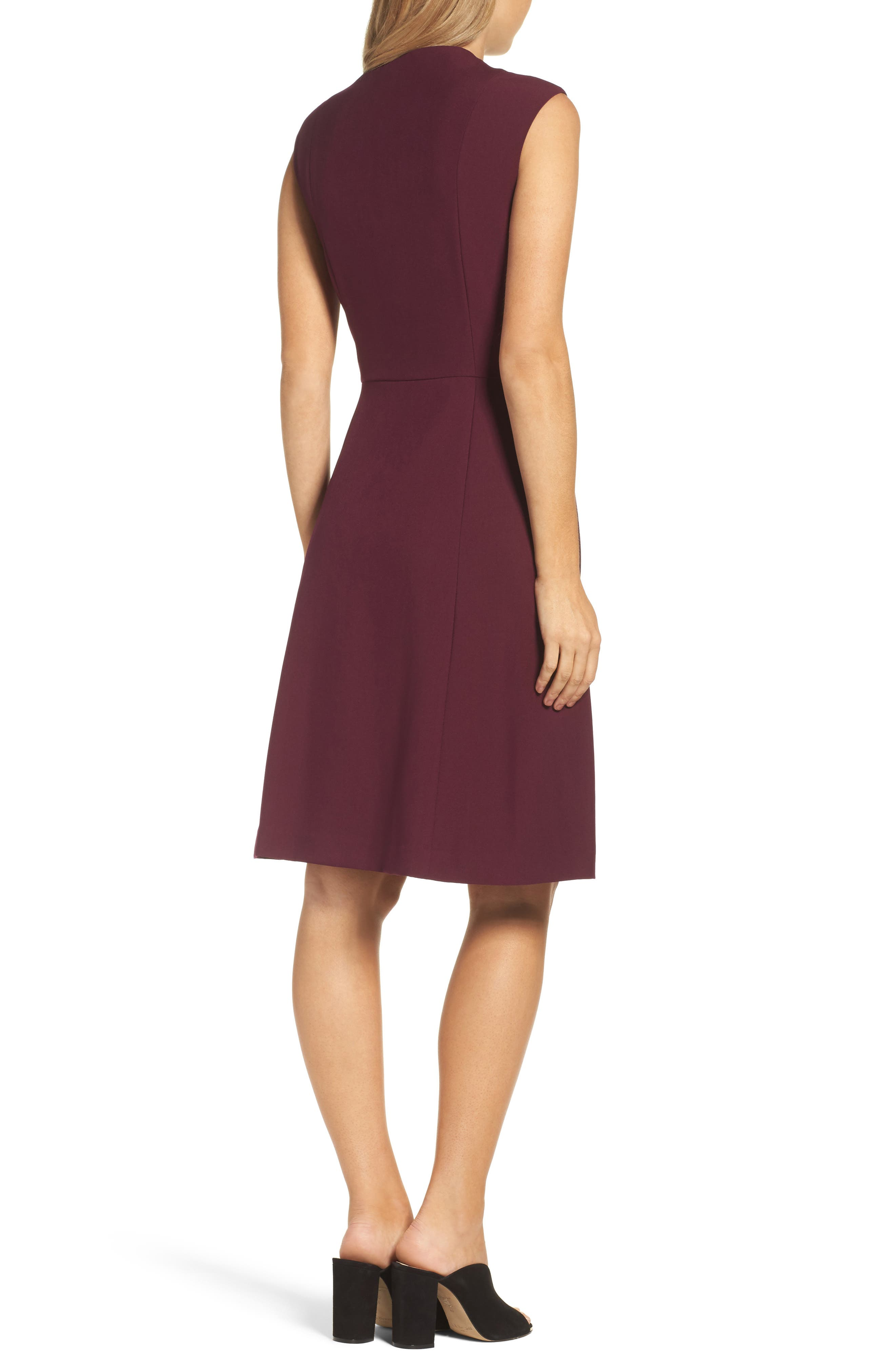 Fit & Flare Dress,                             Alternate thumbnail 5, color,