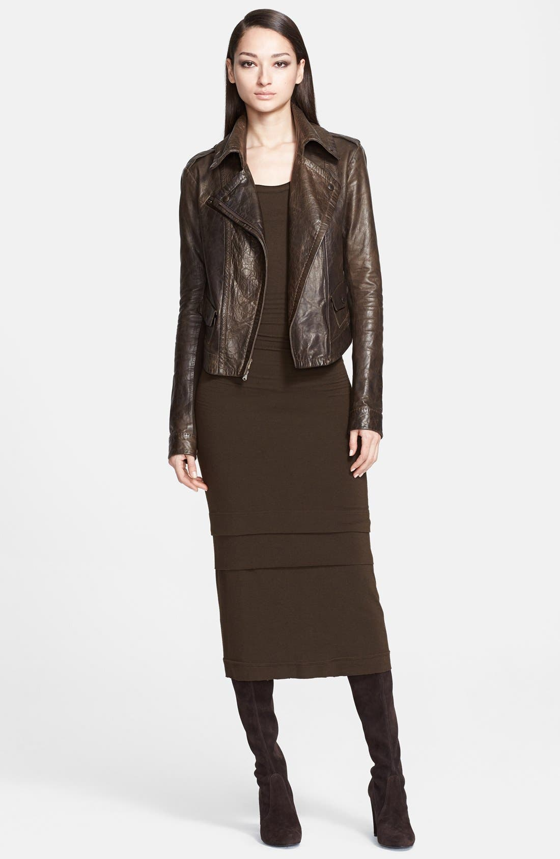Donna Karan Collection Leather Moto Jacket,                             Alternate thumbnail 2, color,                             242