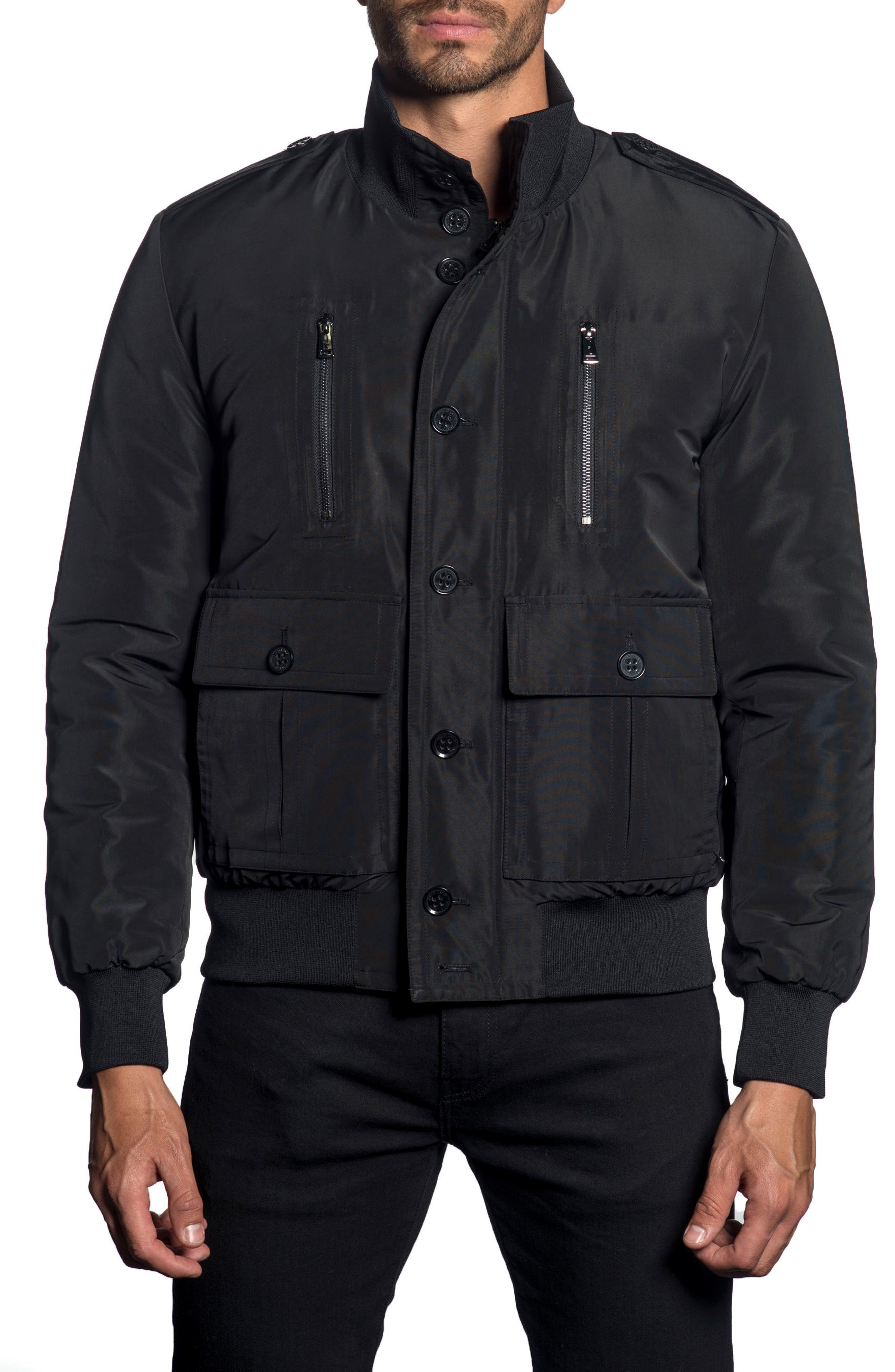Military Jacket,                             Main thumbnail 1, color,                             BLACK