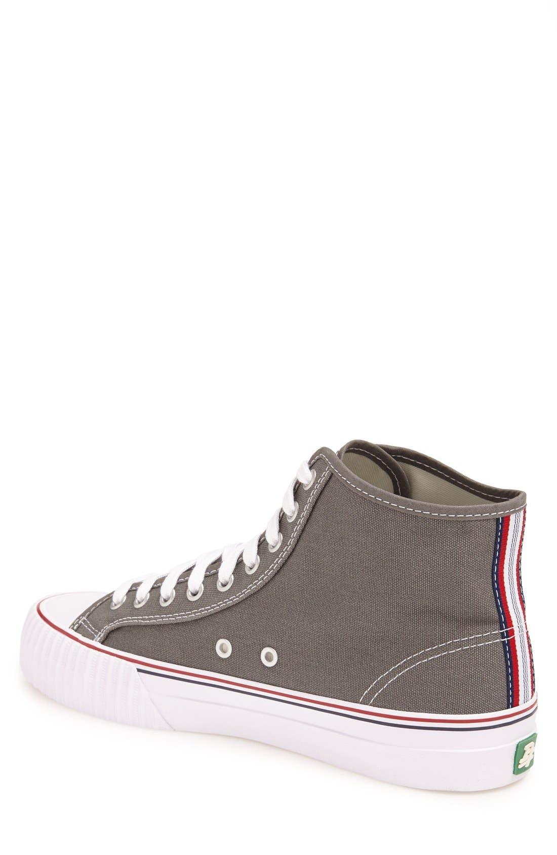 'Center Hi' Canvas Sneaker,                             Alternate thumbnail 4, color,                             030
