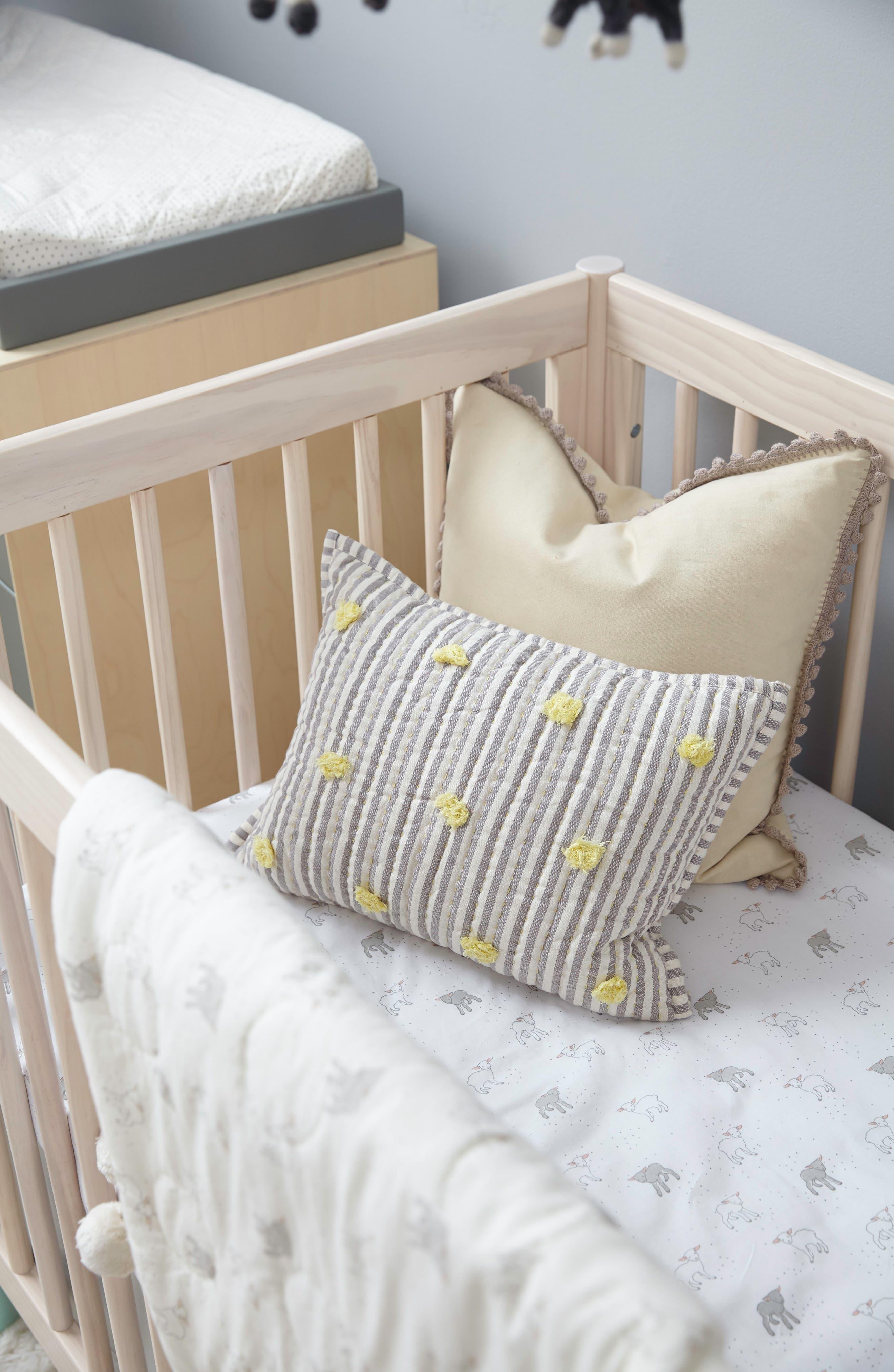 'Rest My Little Head' Cotton Pillow,                             Alternate thumbnail 5, color,                             020