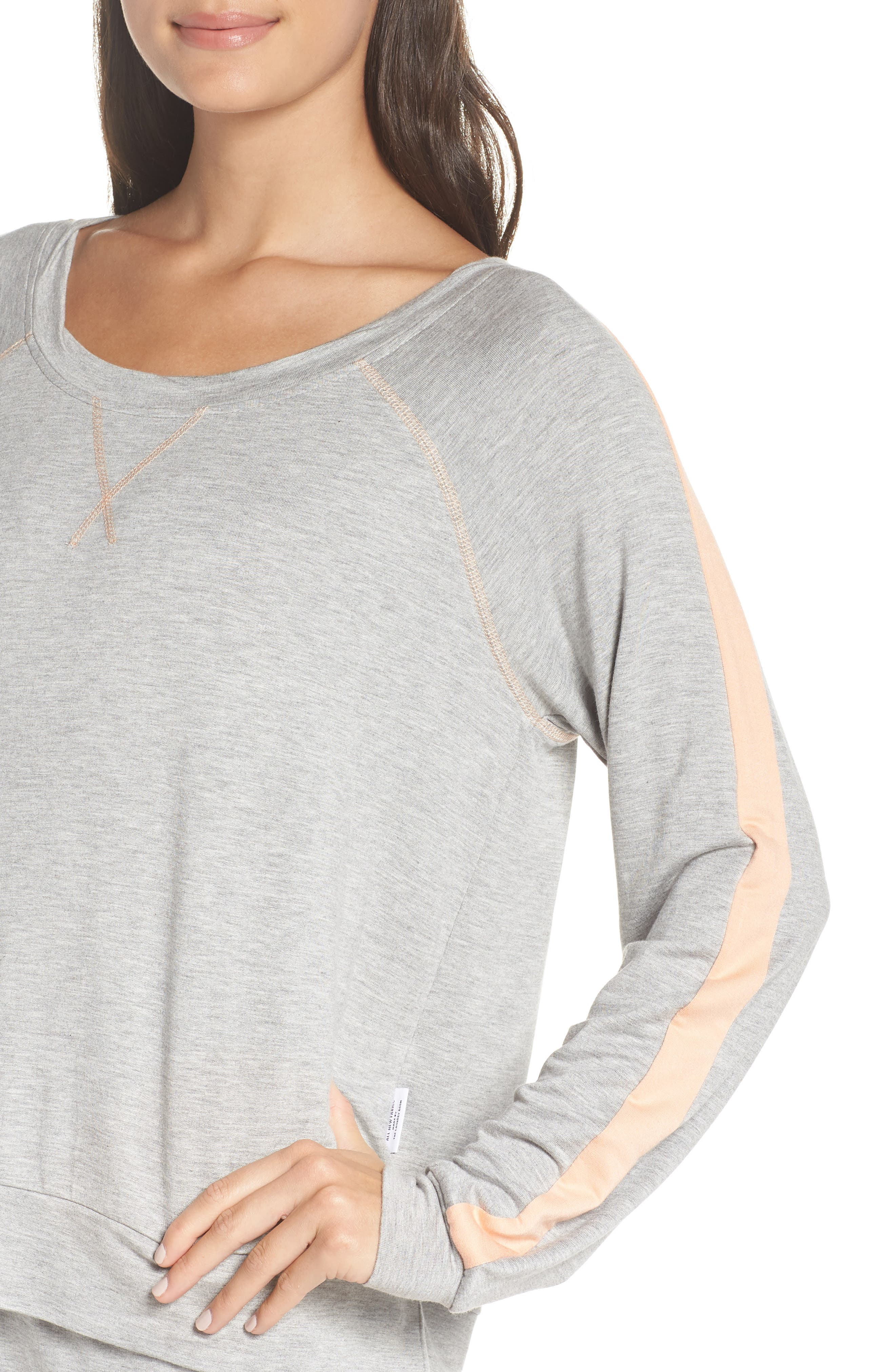 Elevens Sweatshirt,                             Alternate thumbnail 4, color,                             HEATHER / PEACH