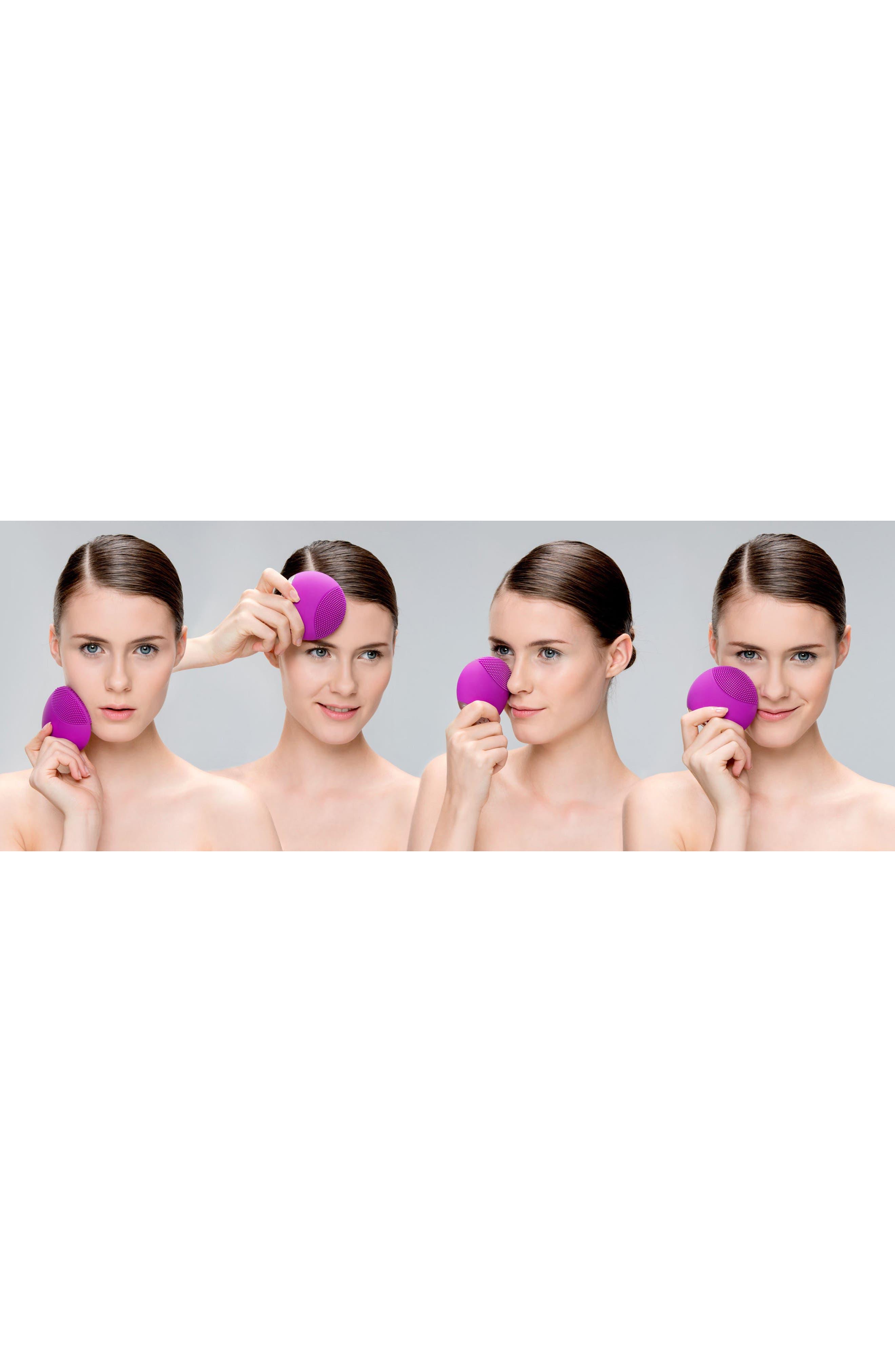 LUNA<sup>™</sup> mini Compact Facial Cleansing Device,                             Alternate thumbnail 4, color,                             PURPLE