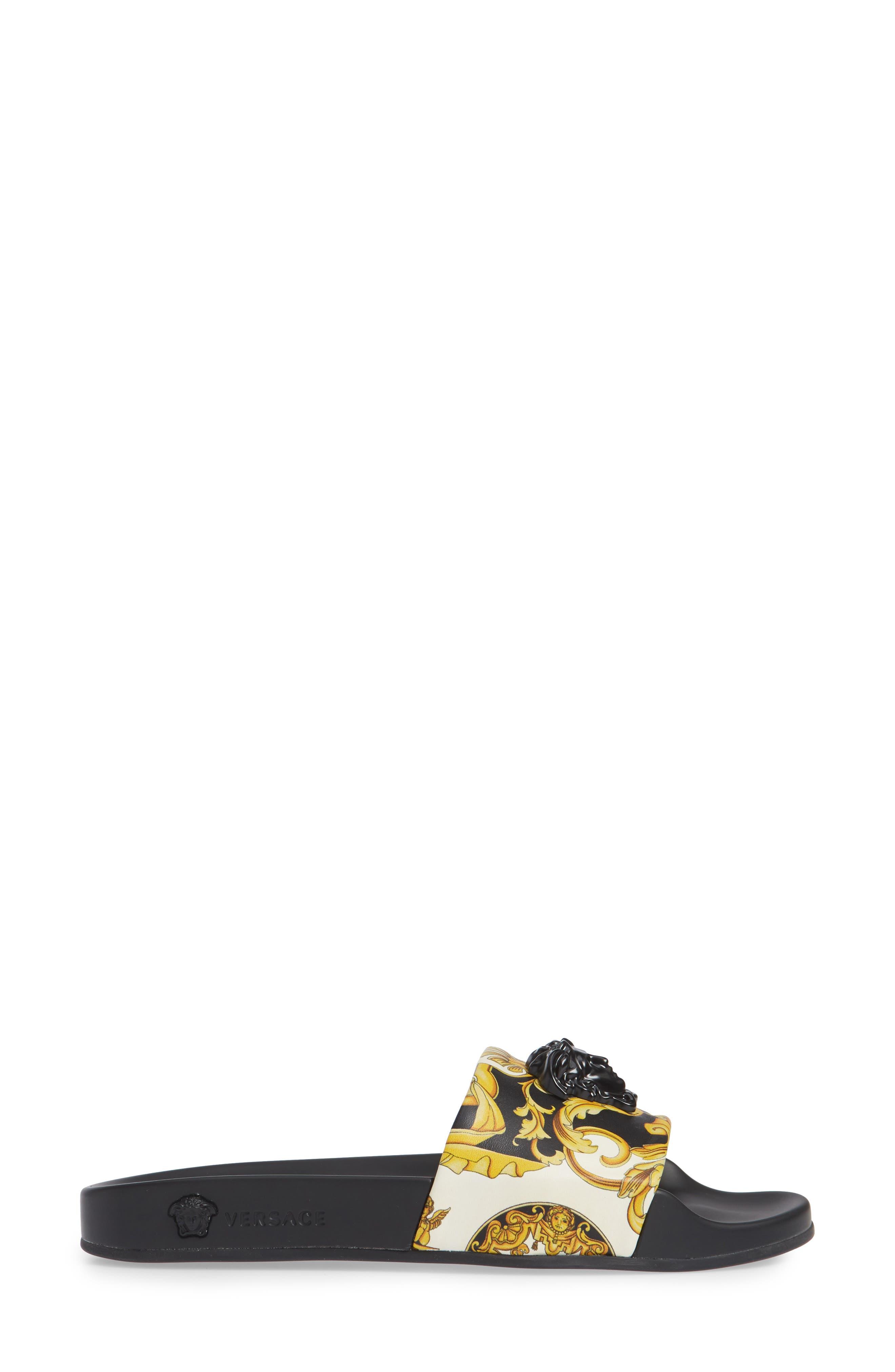 Palazzo Slide Sandal,                             Alternate thumbnail 3, color,                             GOLD