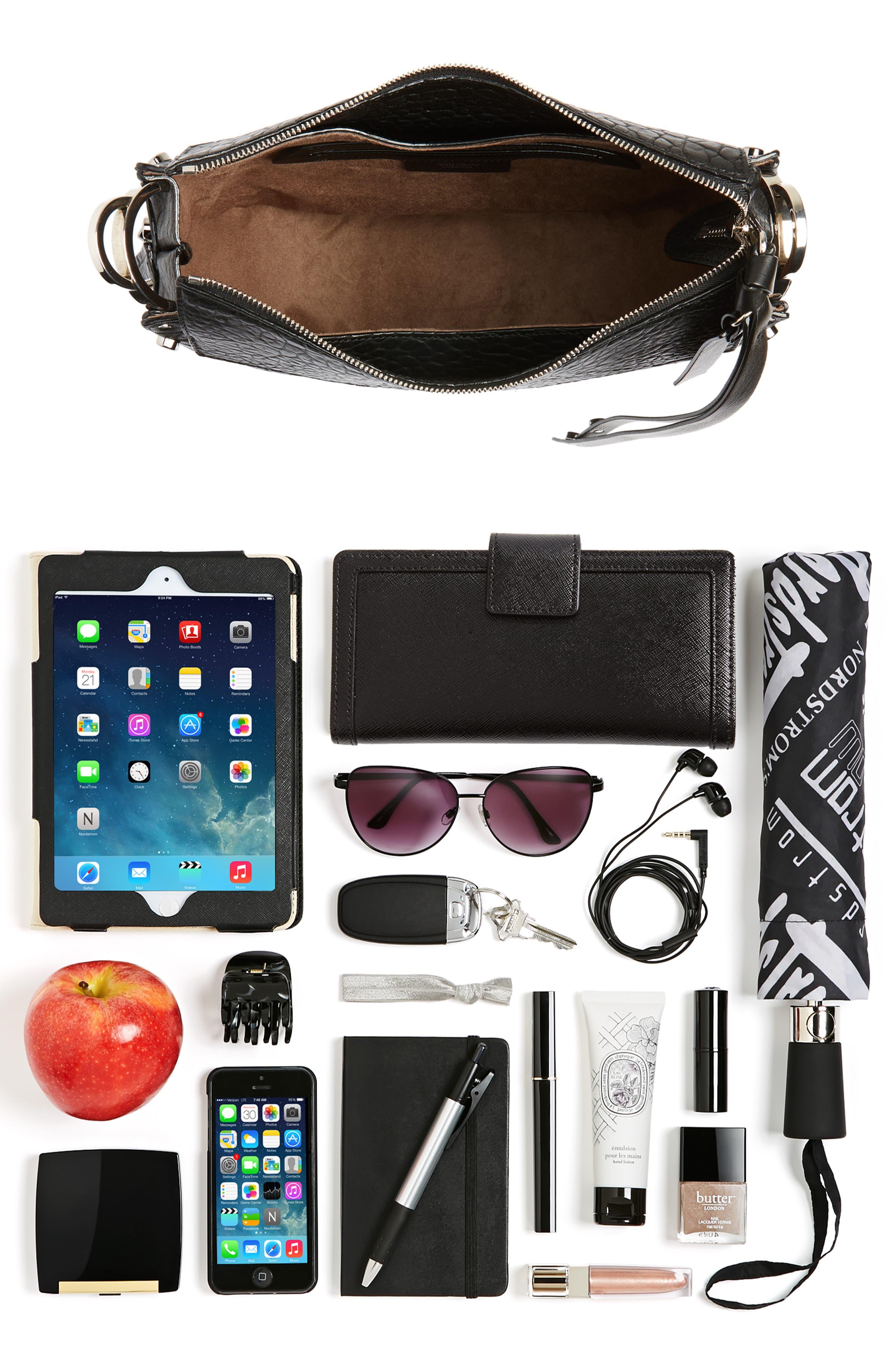 Artie Studded Leather Hobo Bag,                             Alternate thumbnail 7, color,                             001