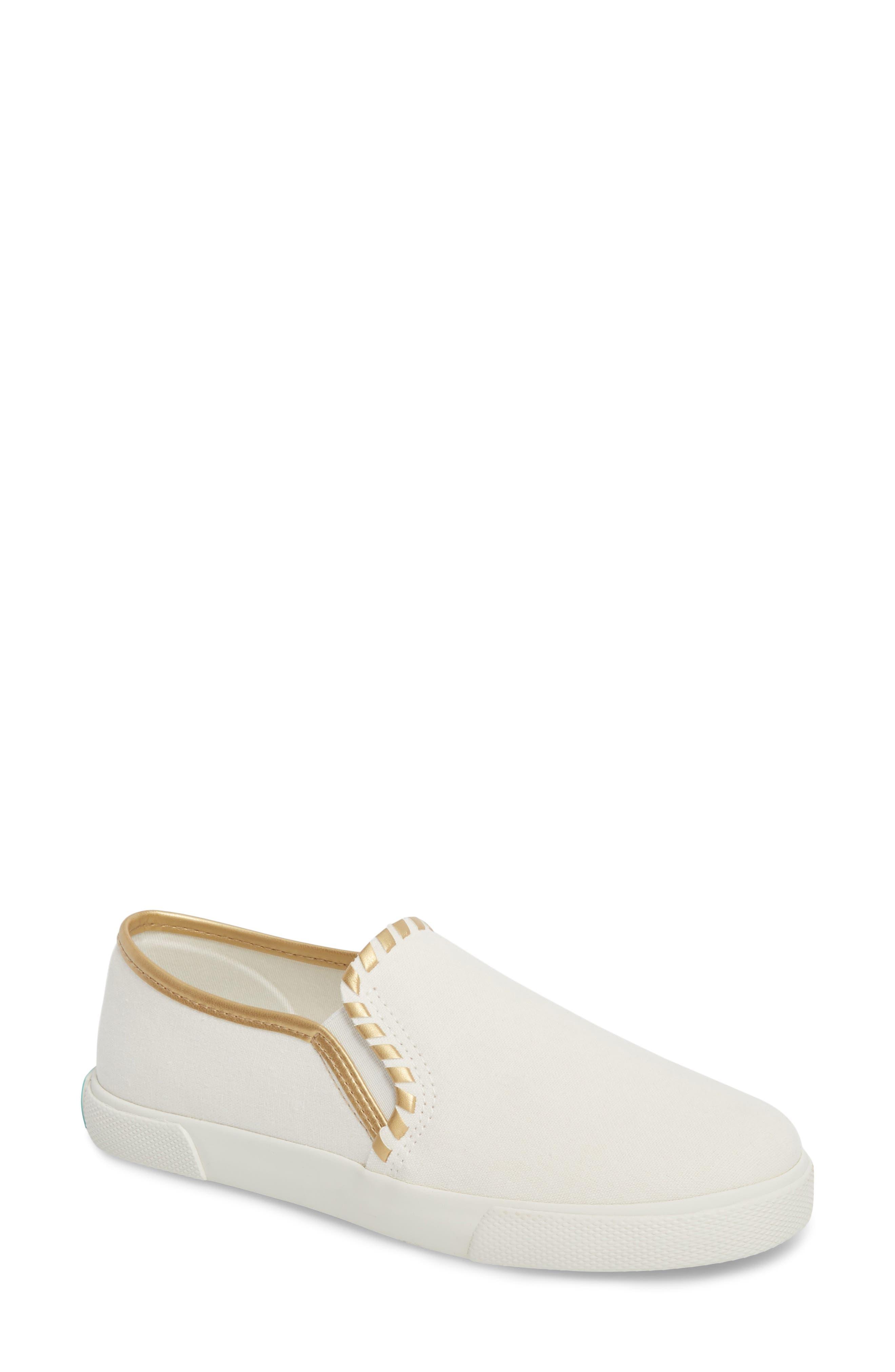 McKay Slip-On Sneaker,                         Main,                         color, WHITE FABRIC