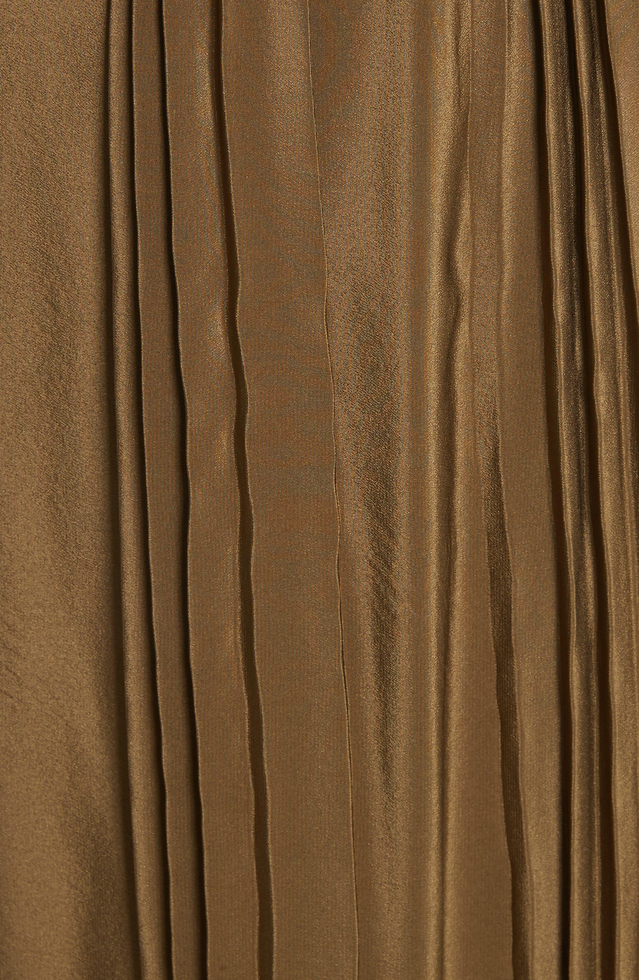 Pleated Silk Skirt,                             Alternate thumbnail 5, color,                             300