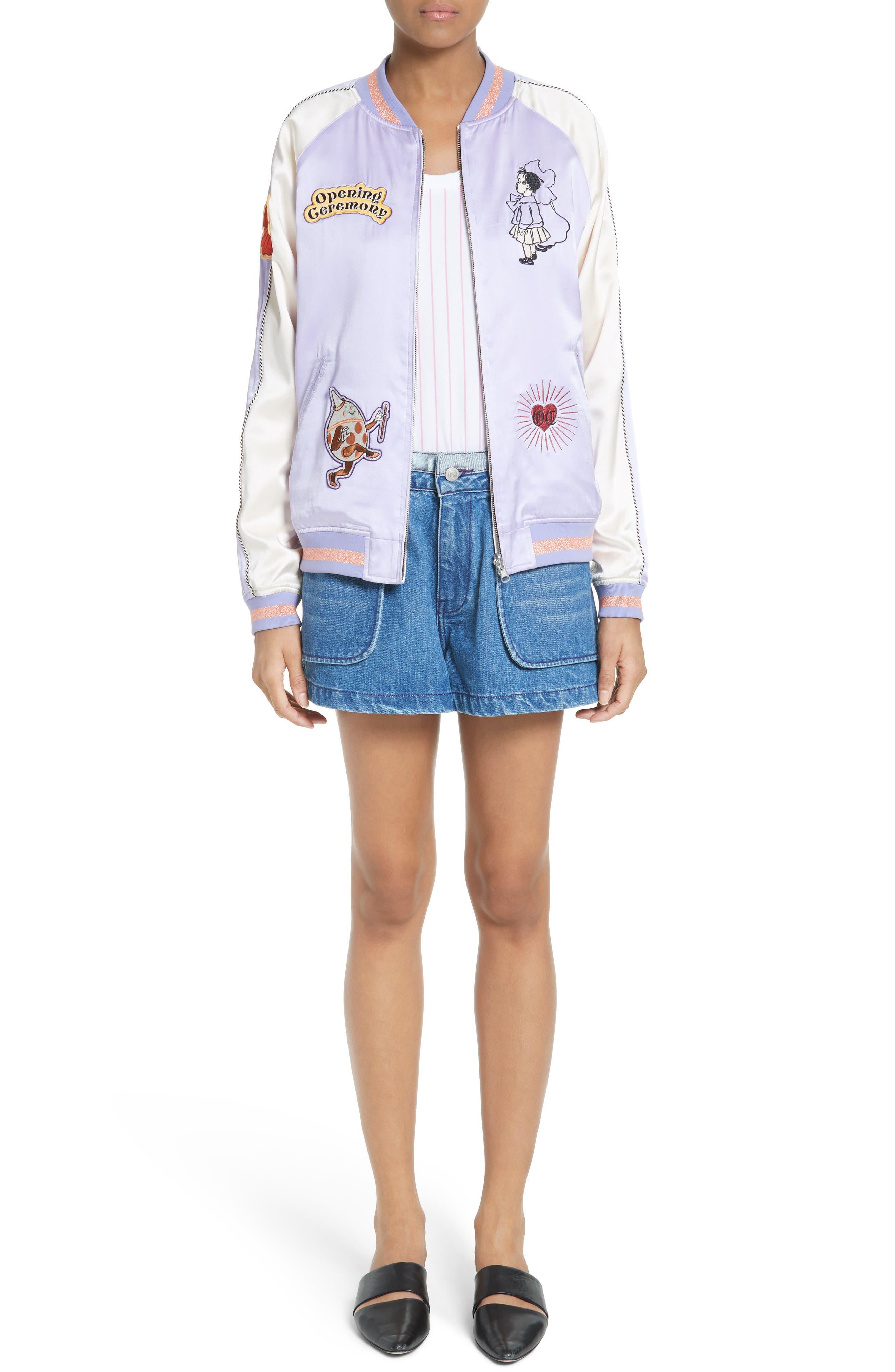 Inside Out Denim Shorts,                         Main,                         color, 420