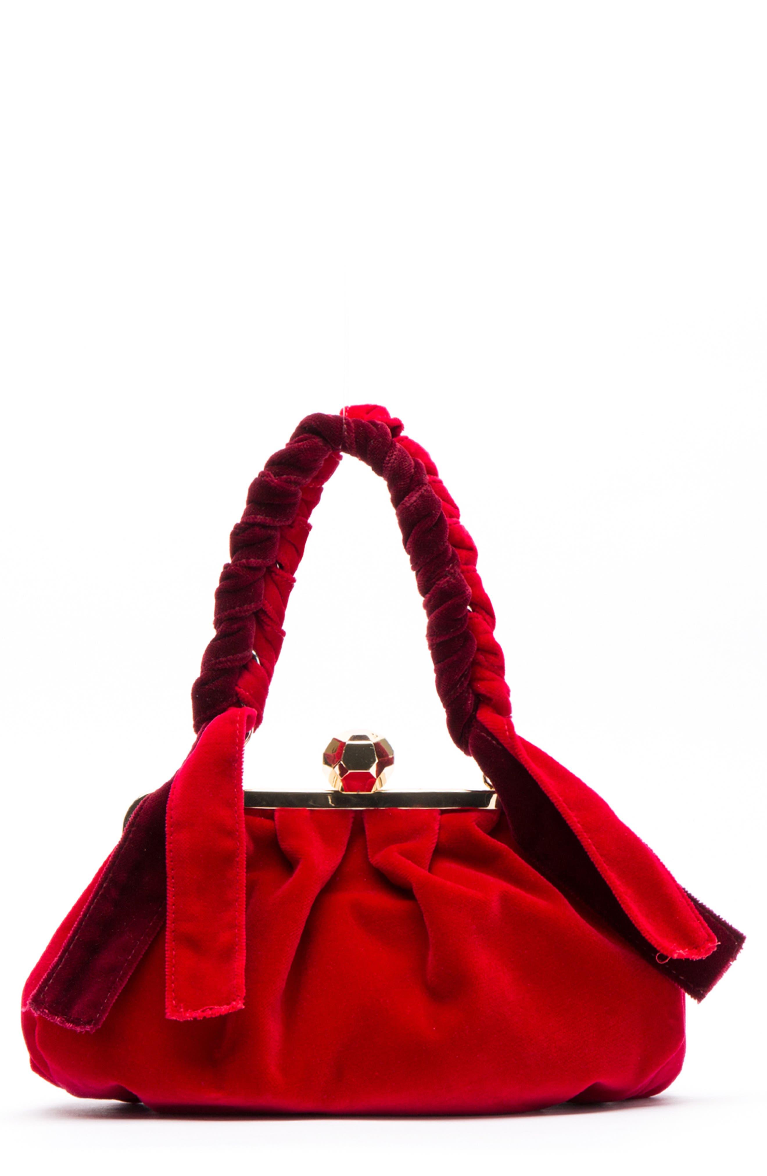 Zelda Velvet Shoulder Bag,                             Main thumbnail 1, color,                             643