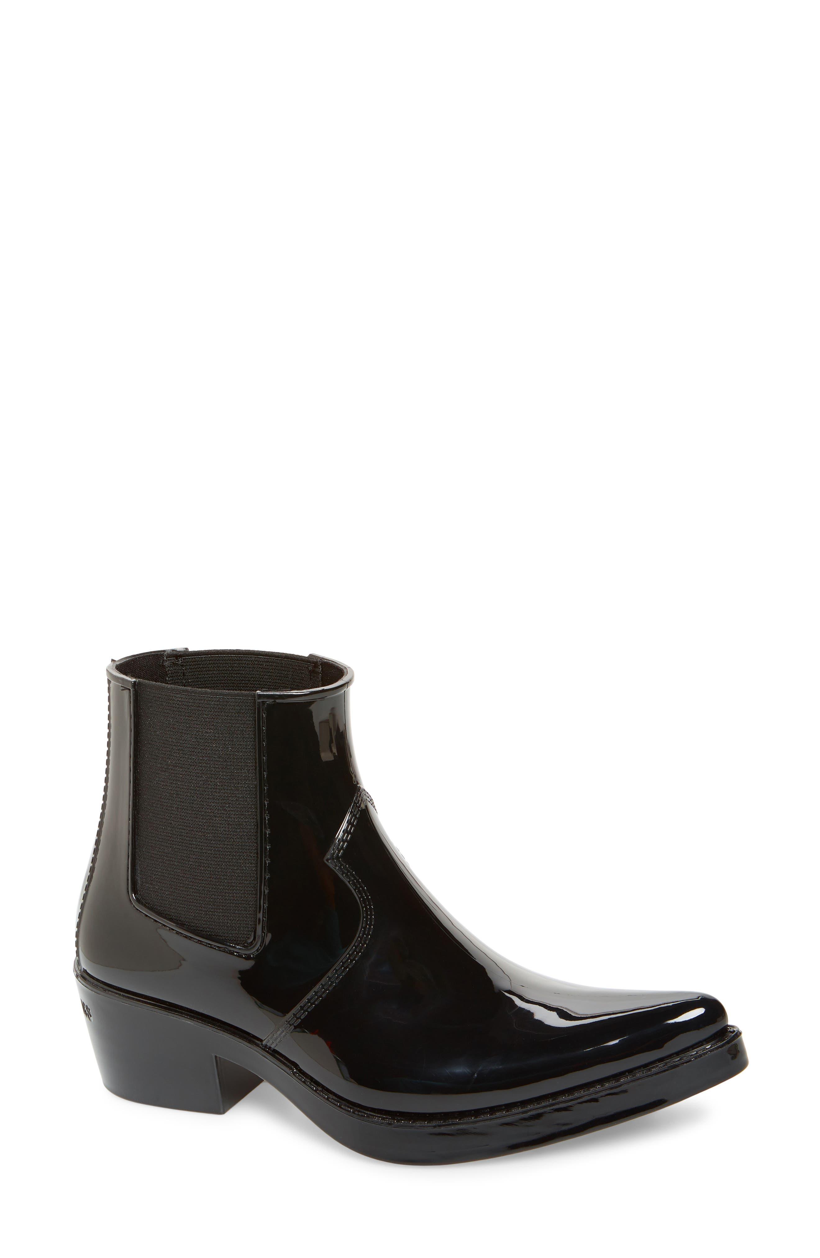 Calvin Klein Jeans Carol Waterproof Rain Bootie, Black