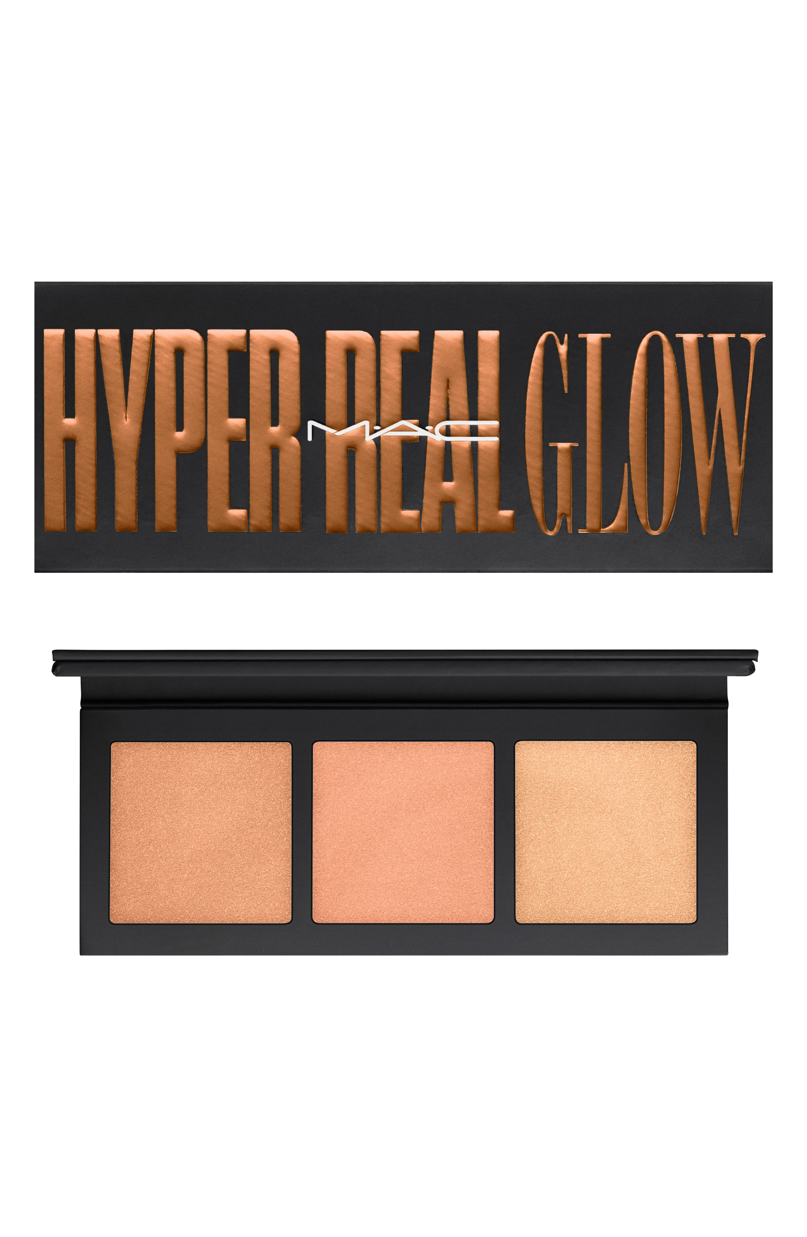 MAC Hyper Real Glow Palette,                             Main thumbnail 1, color,                             SHIMMY PEACH