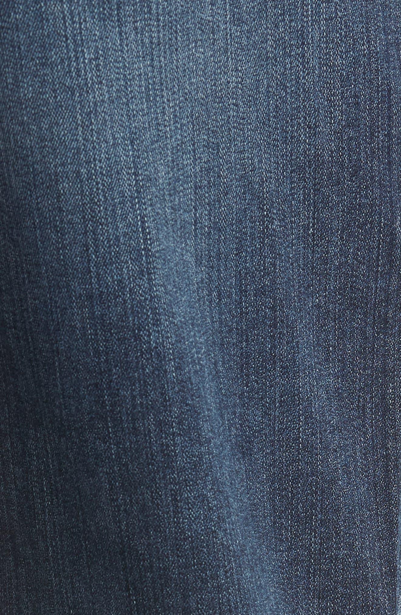Transcend - Normandie Straight Leg Jeans,                             Alternate thumbnail 5, color,                             DILLON