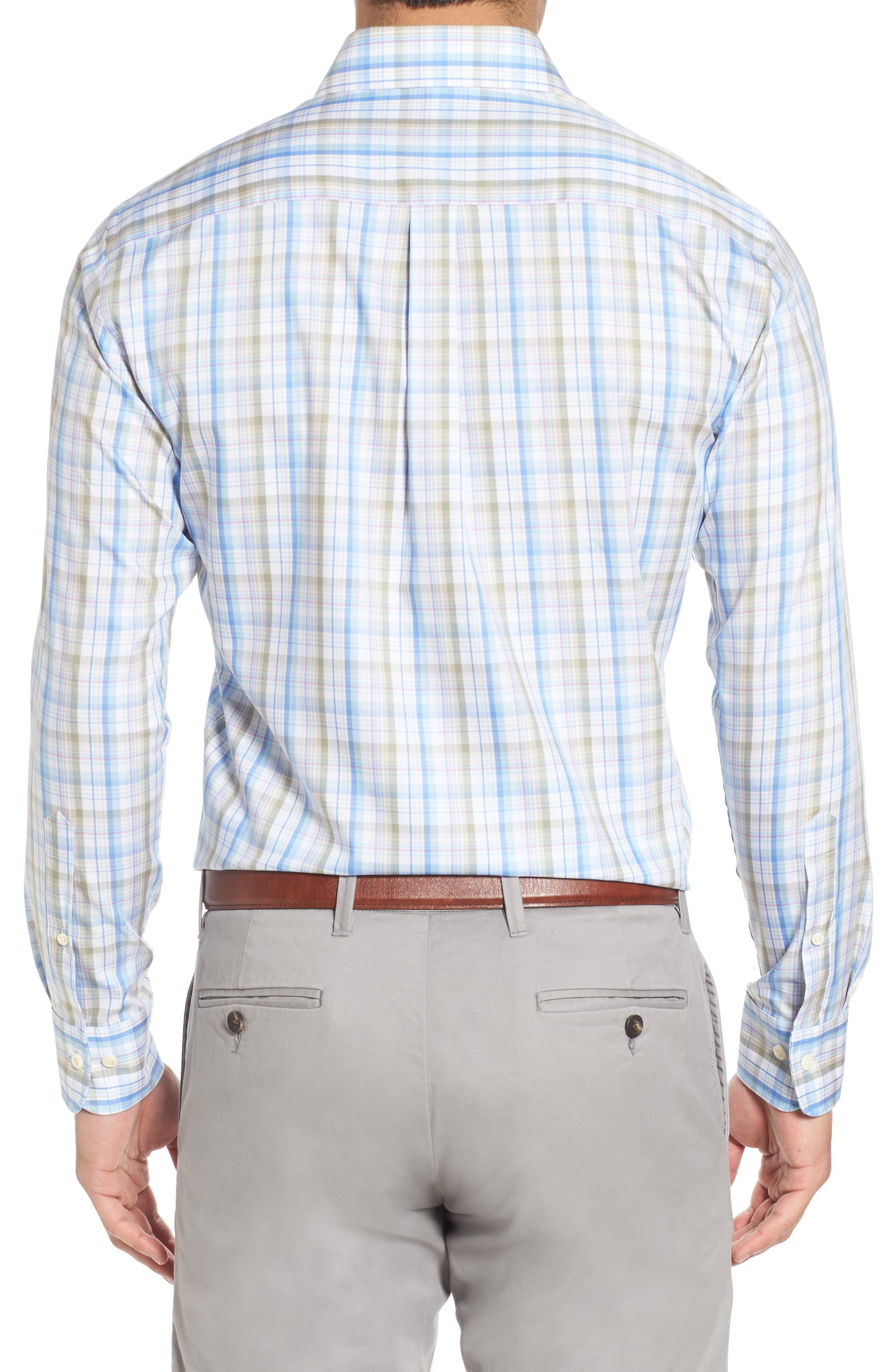 Crown Waterway Plaid Sport Shirt,                             Alternate thumbnail 2, color,                             418