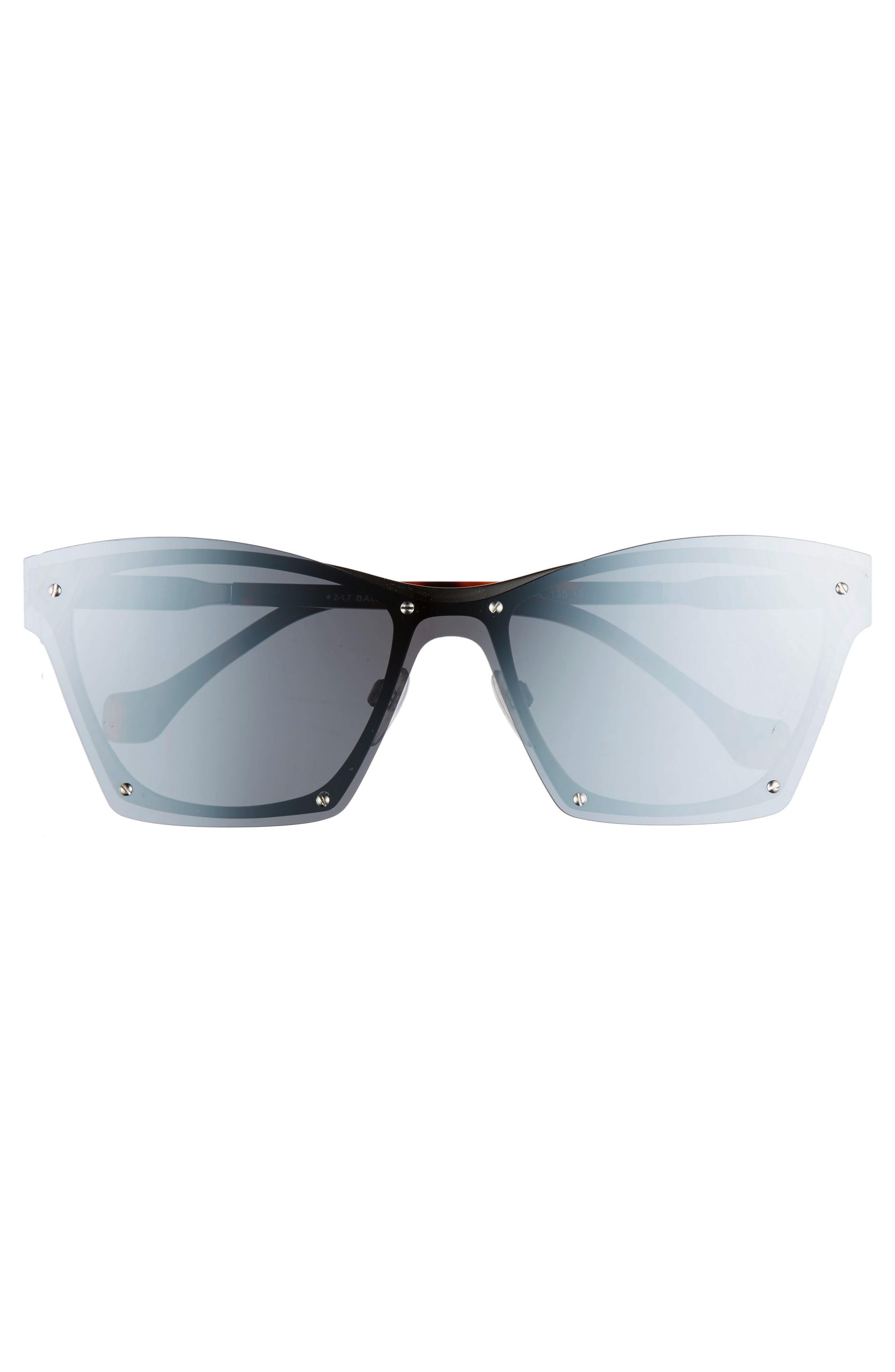 55mm Frameless Sunglasses,                             Alternate thumbnail 3, color,                             040