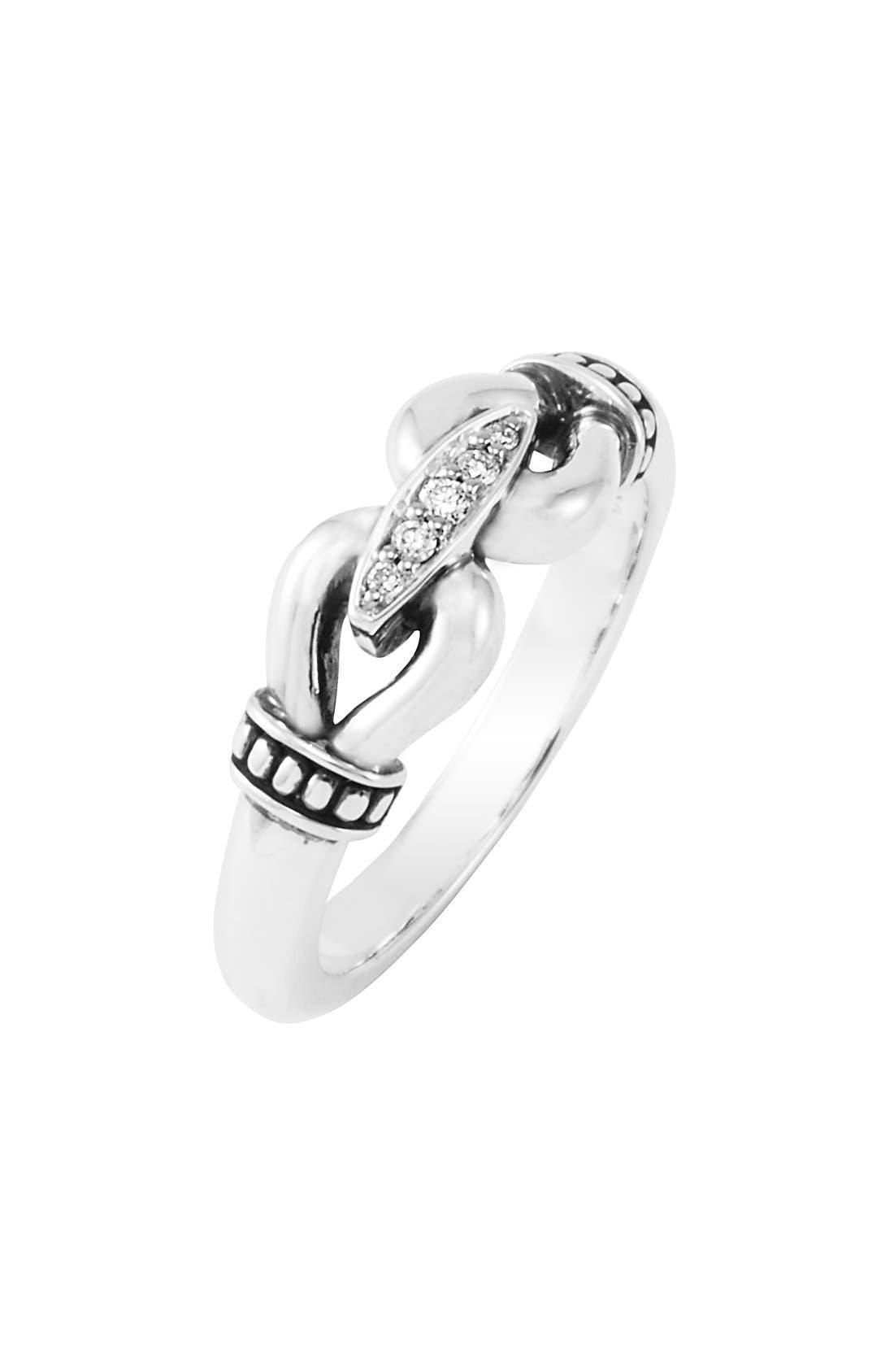 'Derby' Small Diamond Ring,                             Main thumbnail 1, color,                             040