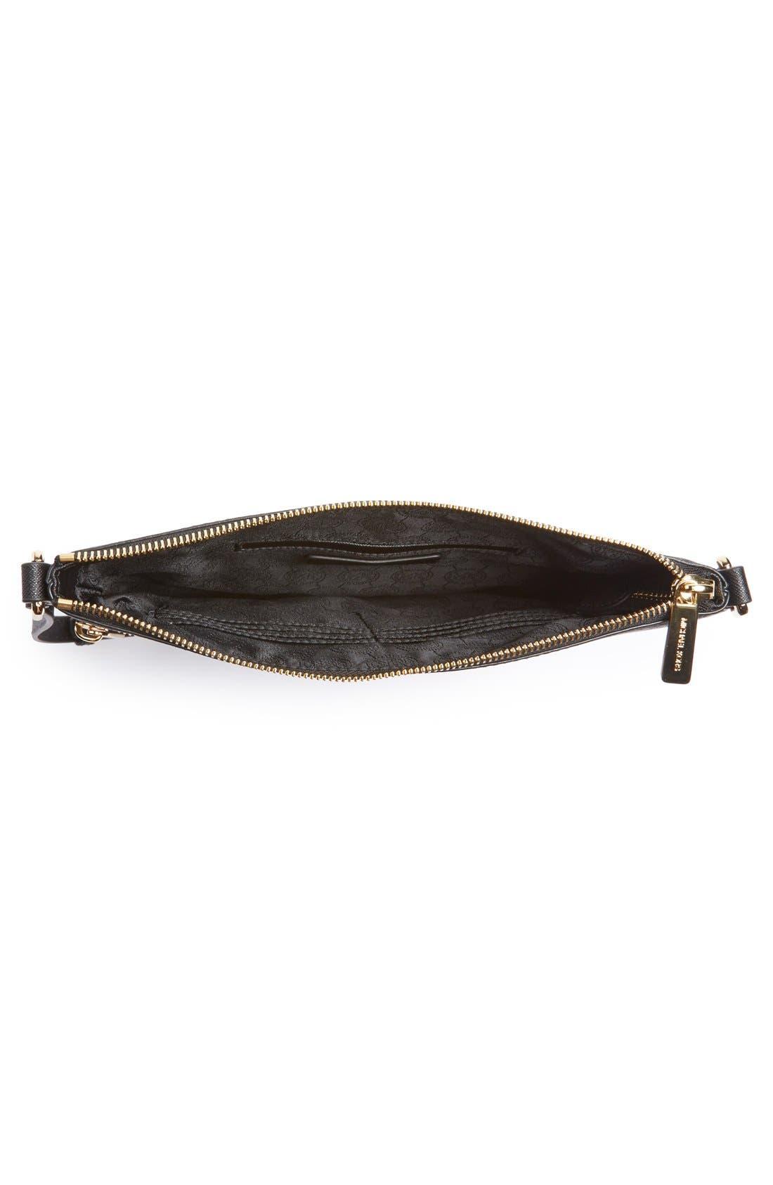 'Bedford' Saffiano Leather Flat Crossbody Bag,                             Alternate thumbnail 5, color,                             001