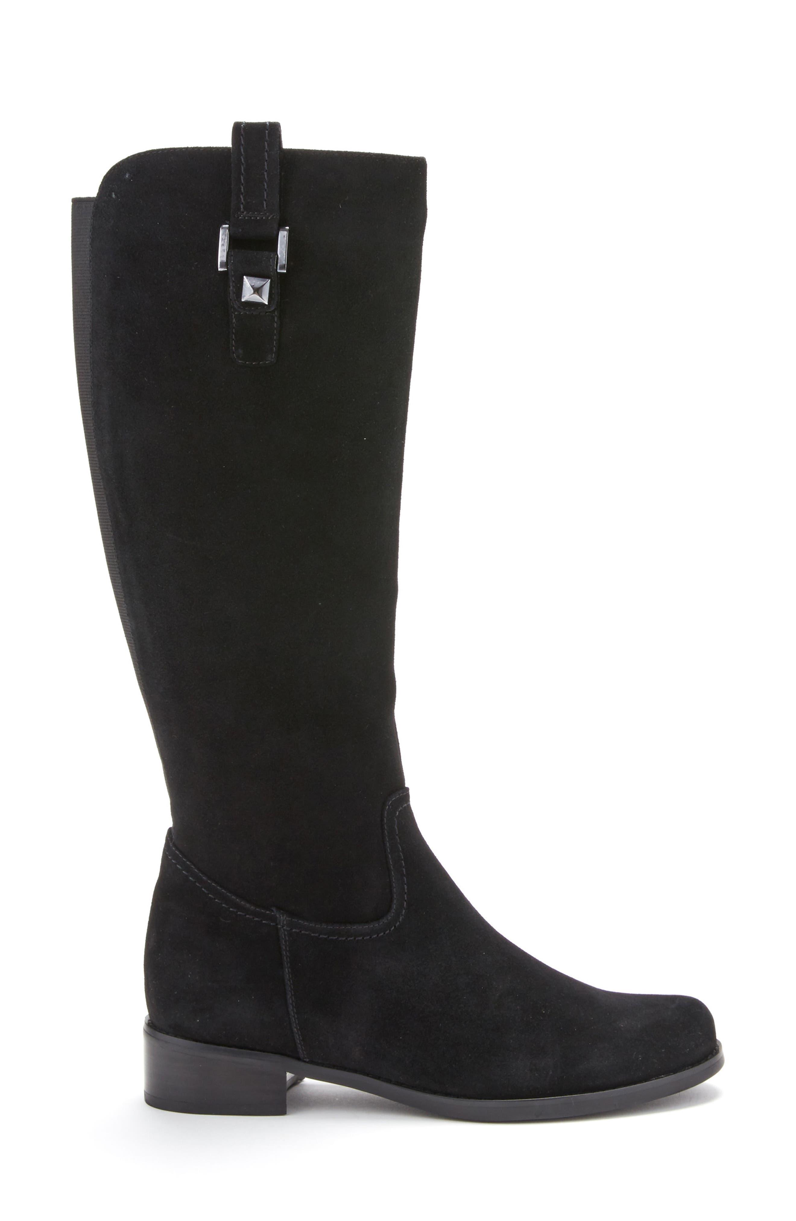 'Velvet' Waterproof Riding Boot,                             Alternate thumbnail 3, color,                             006