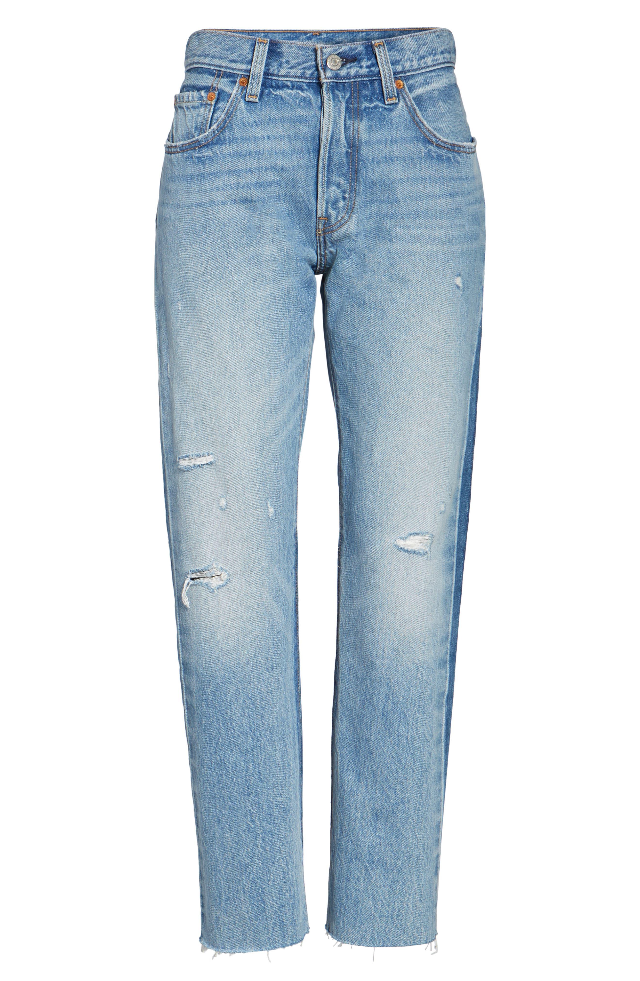 501 Crop Jeans,                             Alternate thumbnail 6, color,                             420