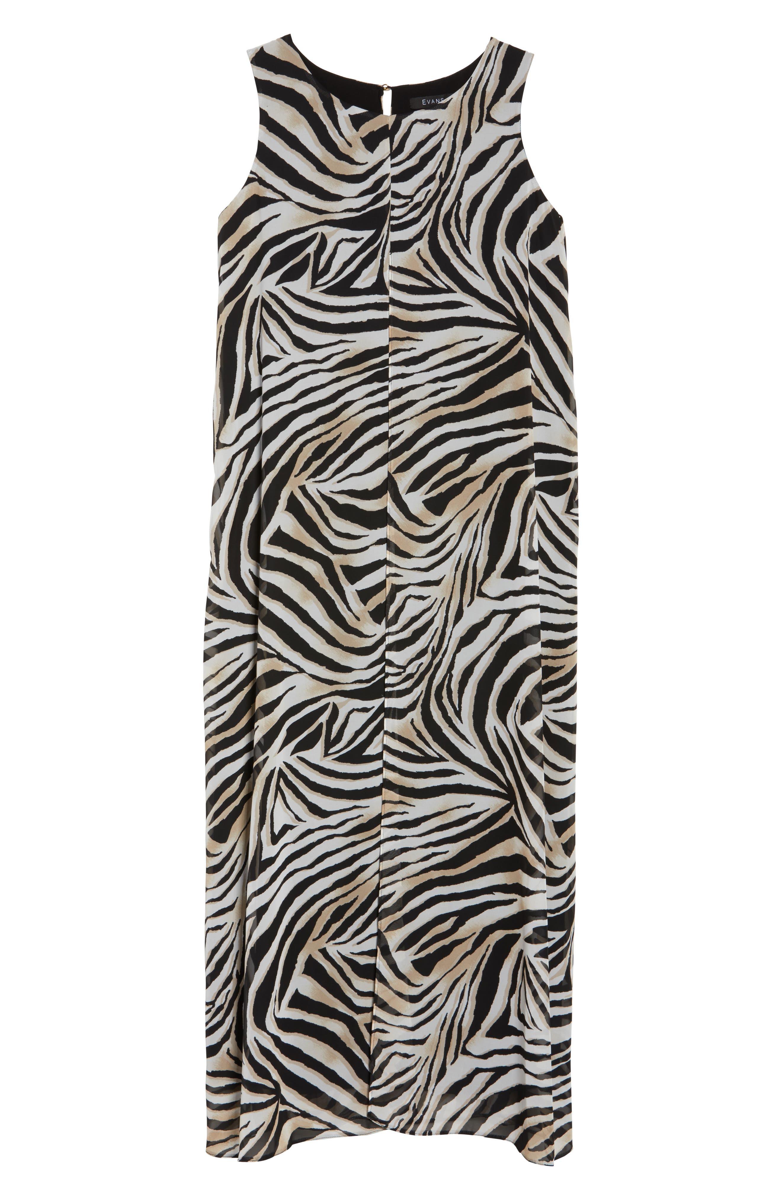 Animal Print Split Maxi Dress,                             Alternate thumbnail 6, color,                             010