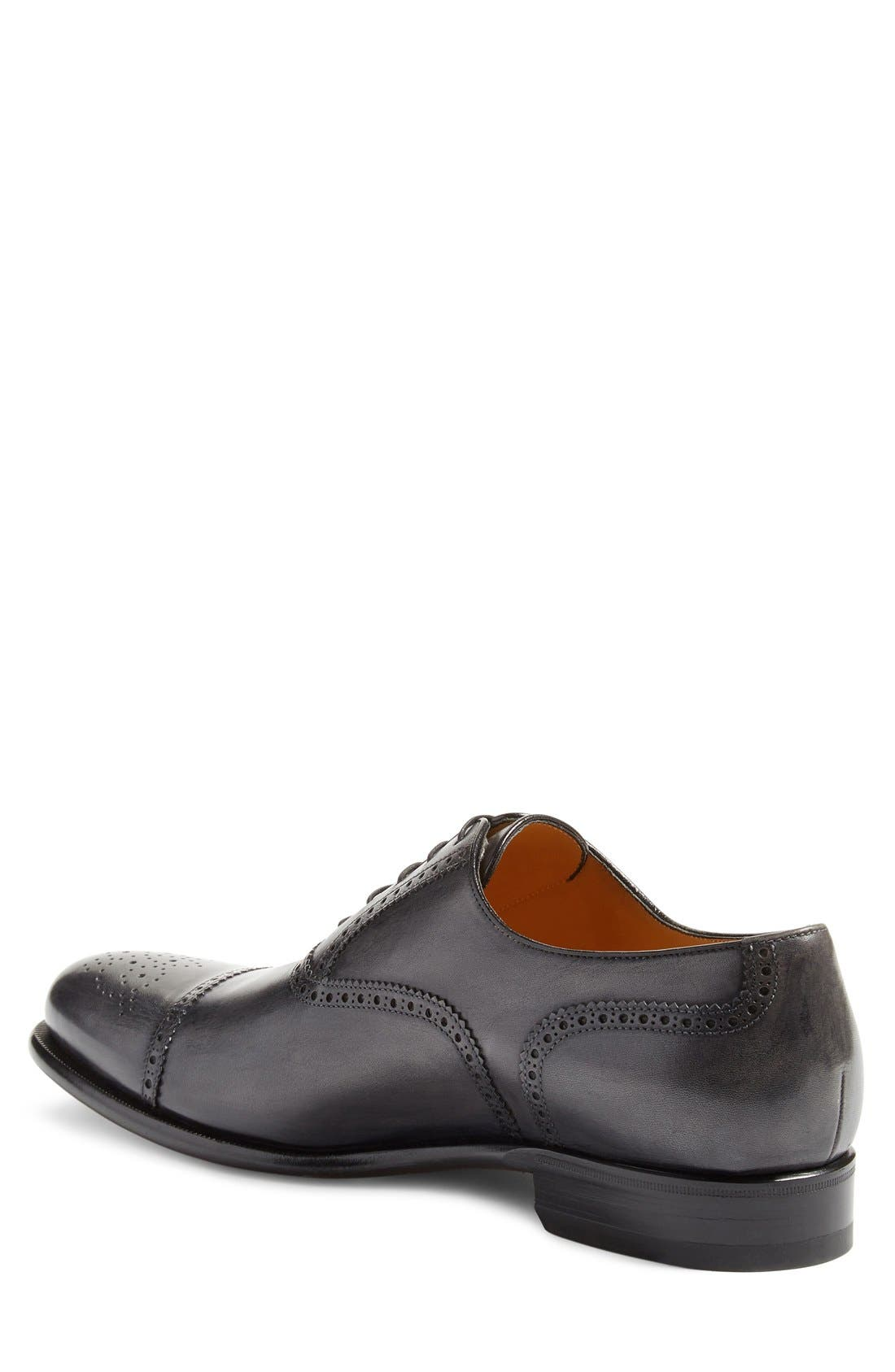 Medallion Toe Oxford,                             Alternate thumbnail 2, color,