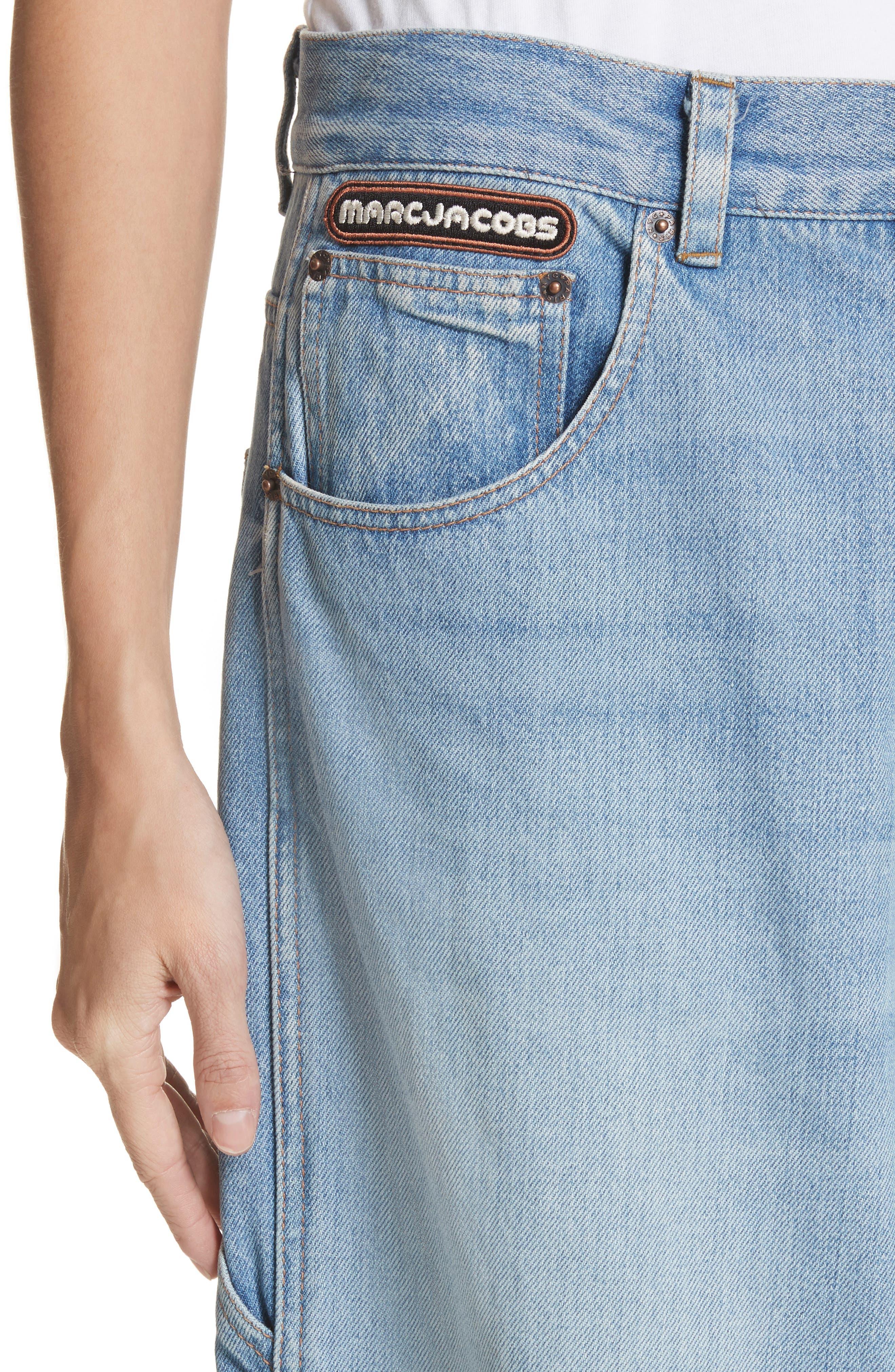 Wide Leg Carpenter Jeans,                             Alternate thumbnail 4, color,                             489
