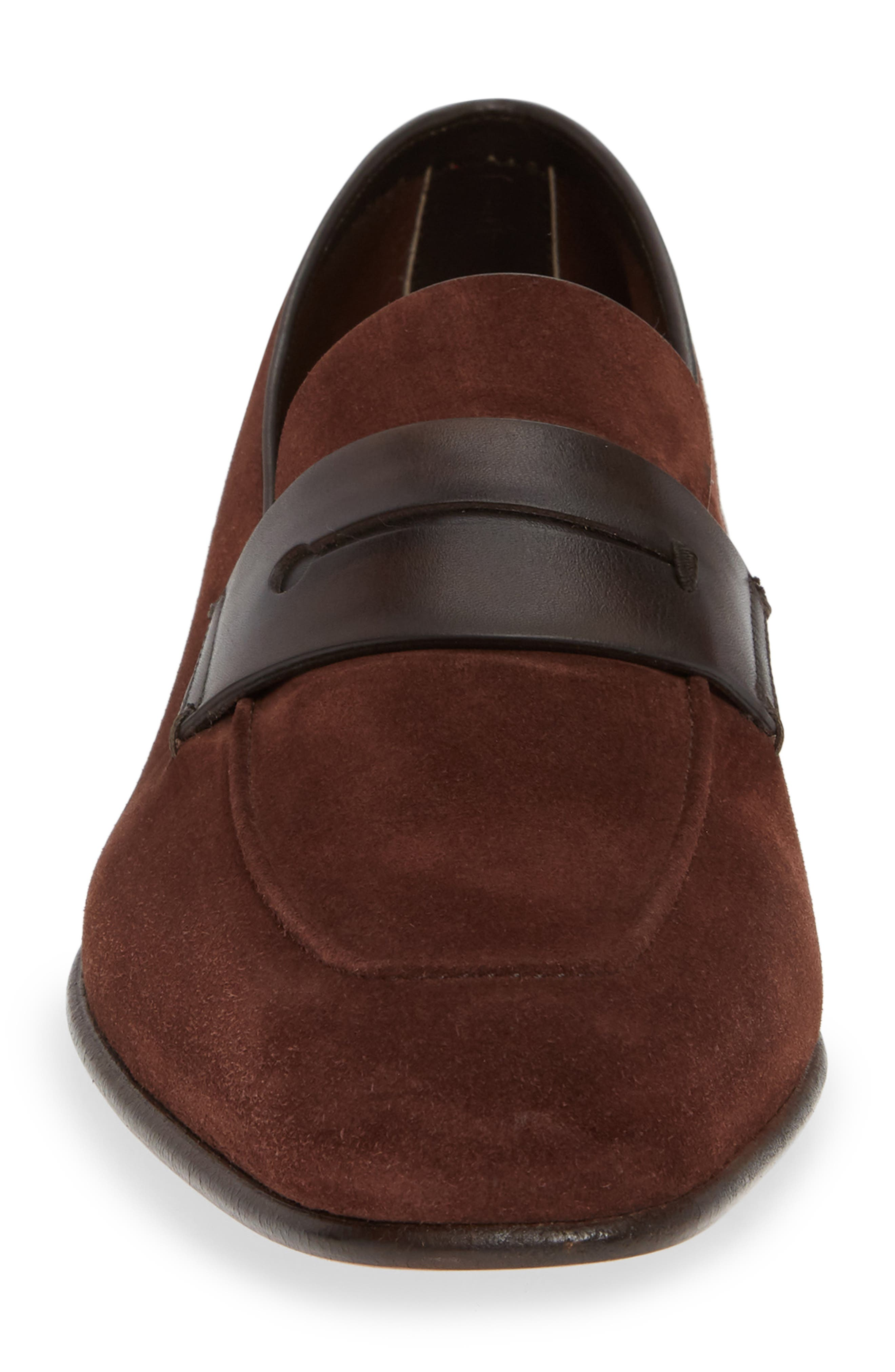 Penny Loafer,                             Alternate thumbnail 4, color,                             BROWN