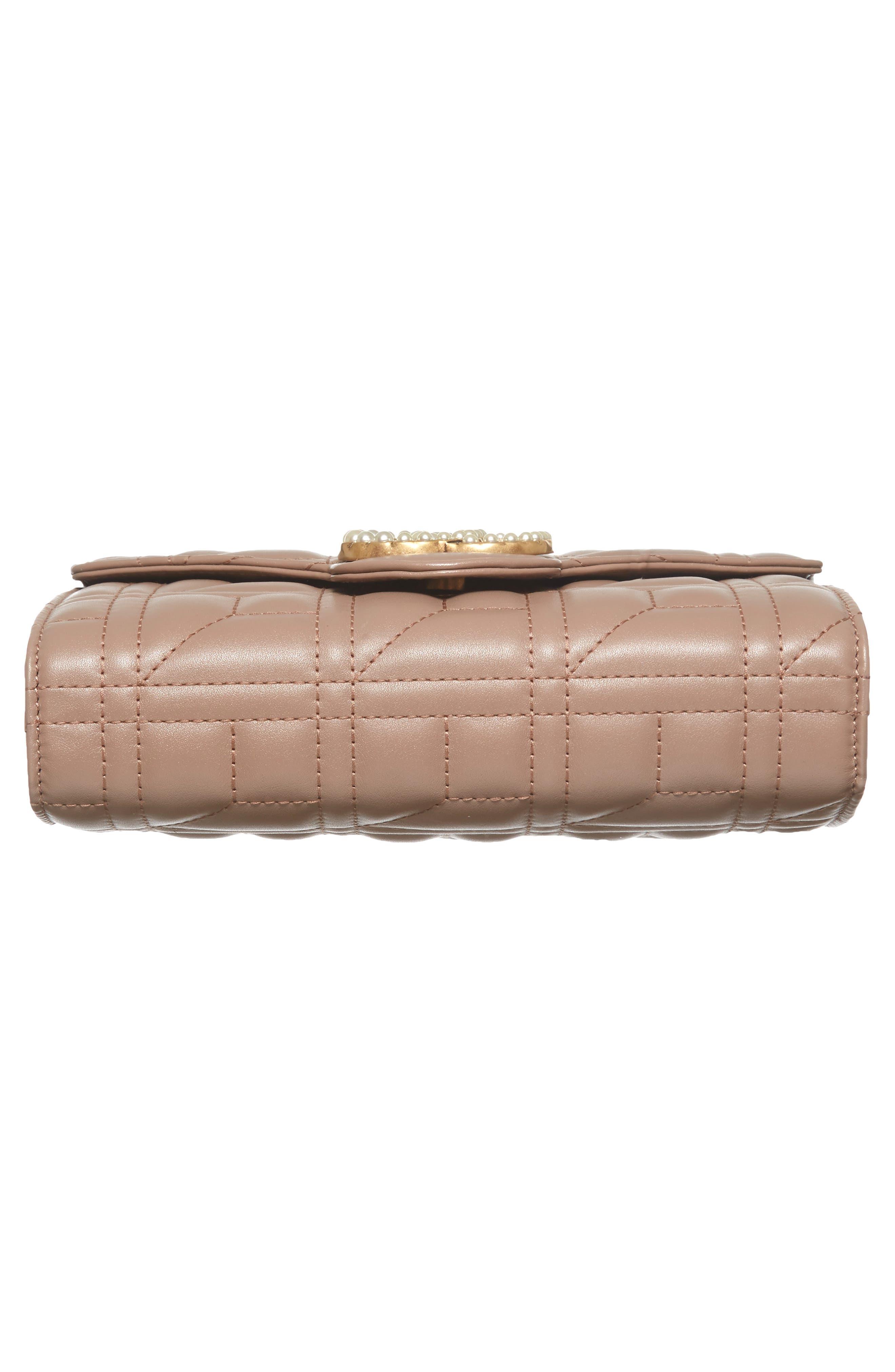 GG Marmont Matelassé Leather Wallet on a Chain,                             Alternate thumbnail 6, color,                             636