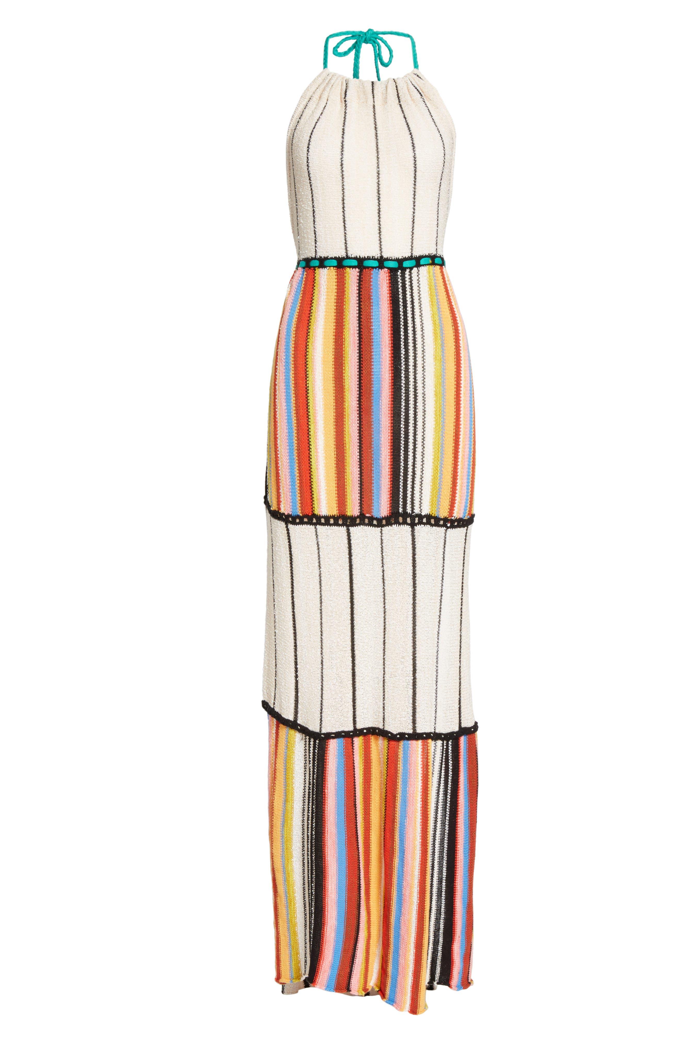 Mardi Gras Halter Maxi Dress,                             Alternate thumbnail 9, color,