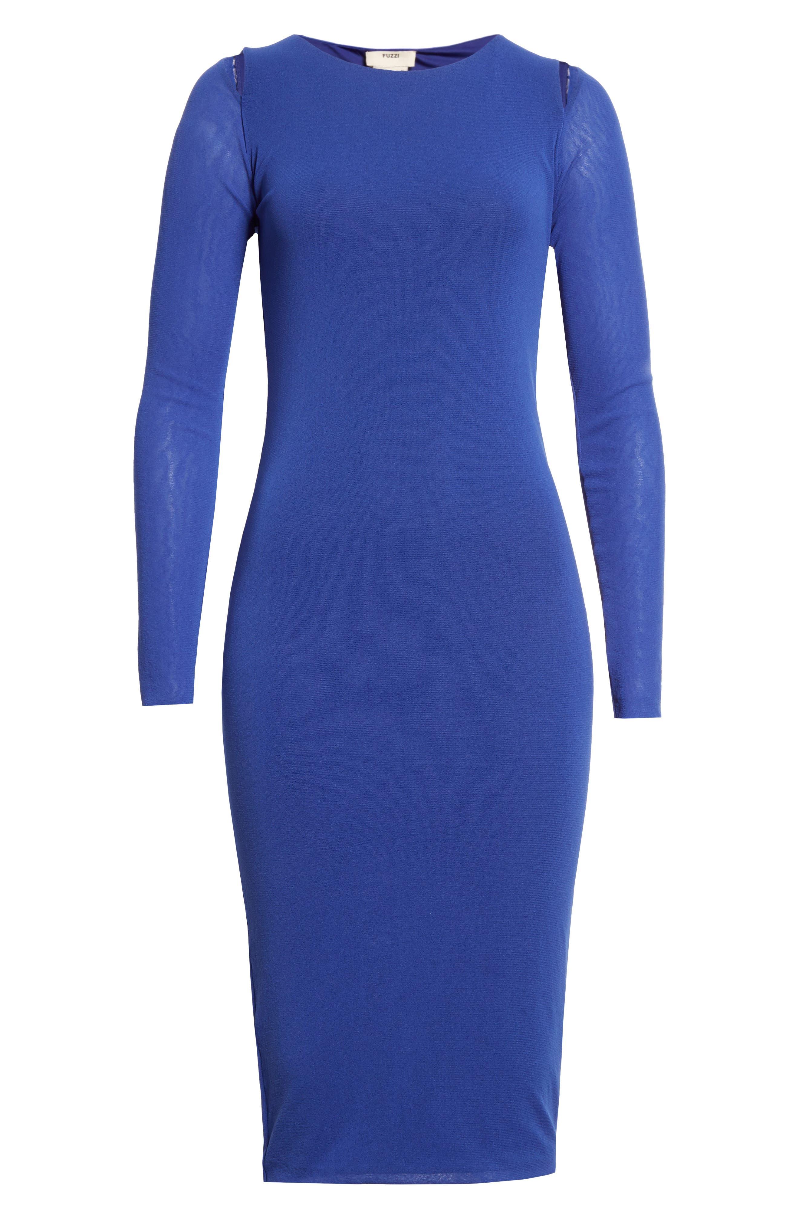 Cutout Tulle Dress,                             Alternate thumbnail 6, color,                             422