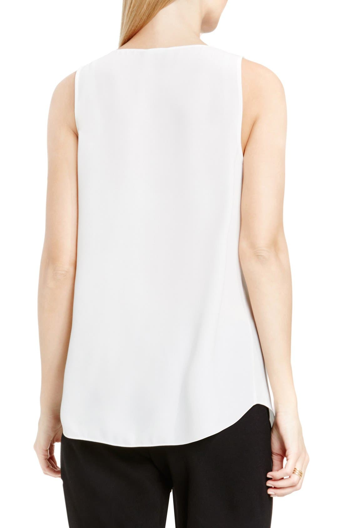 Drape Front V-Neck Sleeveless Blouse,                             Alternate thumbnail 71, color,