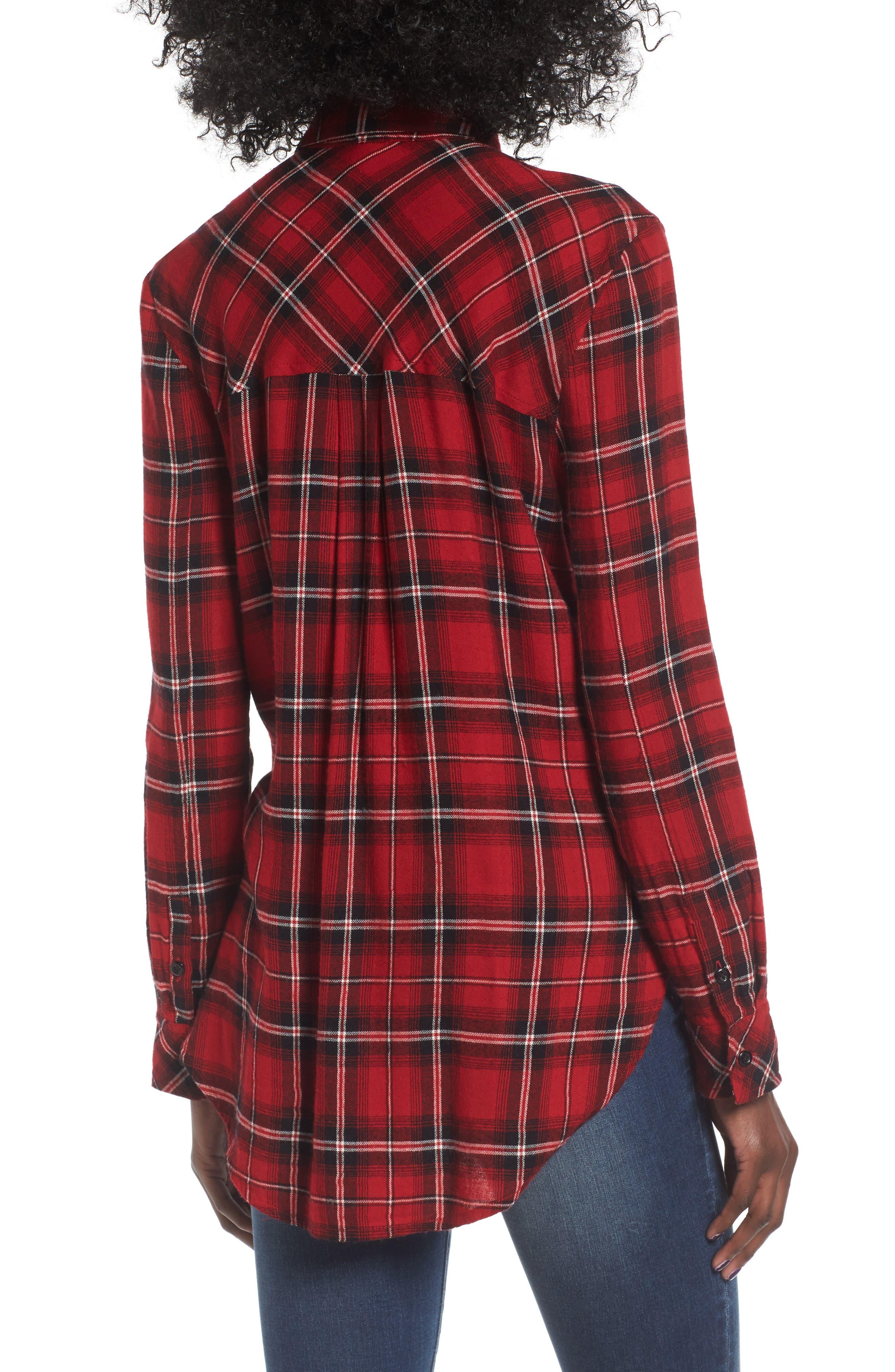 Plaid Cotton Blend Shirt,                             Alternate thumbnail 9, color,