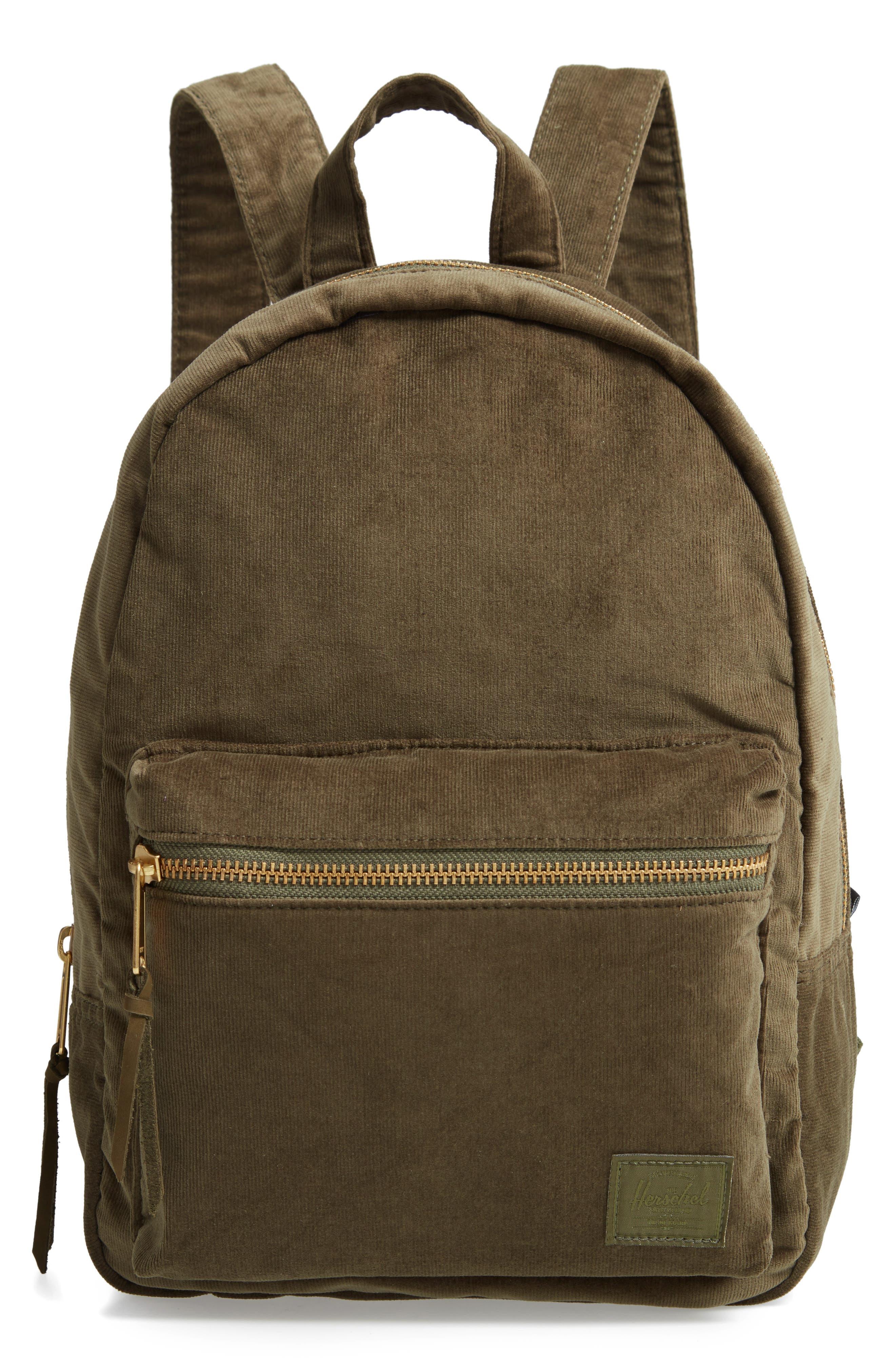 Herschel Supply Co. X-Small Grove Corduroy Backpack - Green