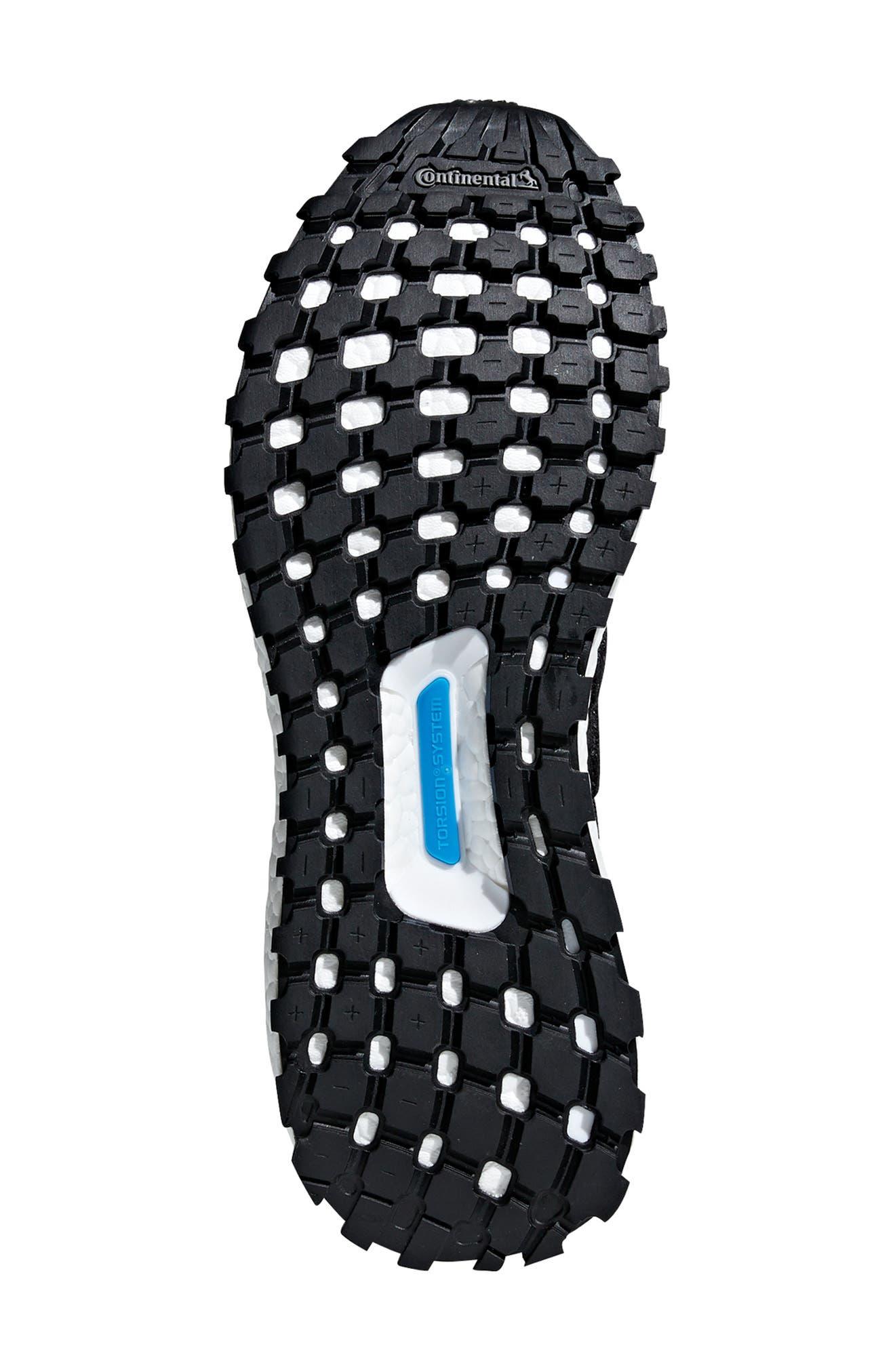 UltraBoost All Terrain Water Resistant Running Shoe,                             Alternate thumbnail 5, color,                             CARBON / CORE BLACK / WHITE