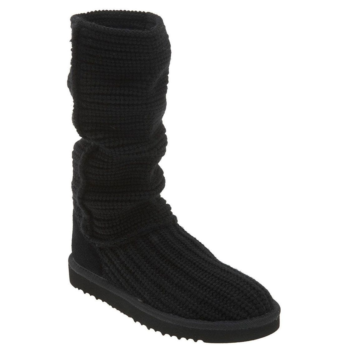 Australia 'Classic Crochet Tall' Boot, Main, color, BLK