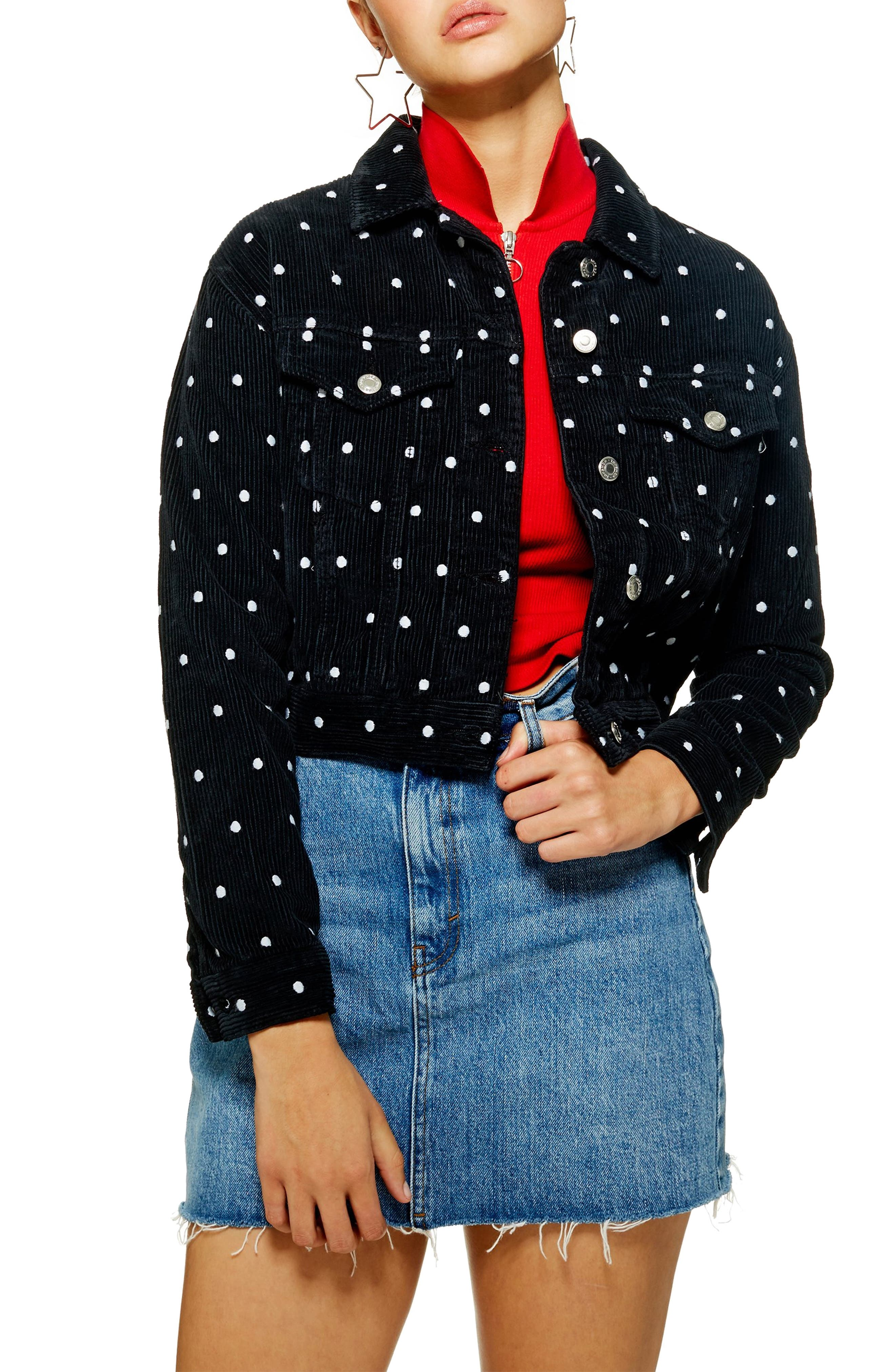 Spot Corduroy Jacket,                         Main,                         color, NAVY BLUE