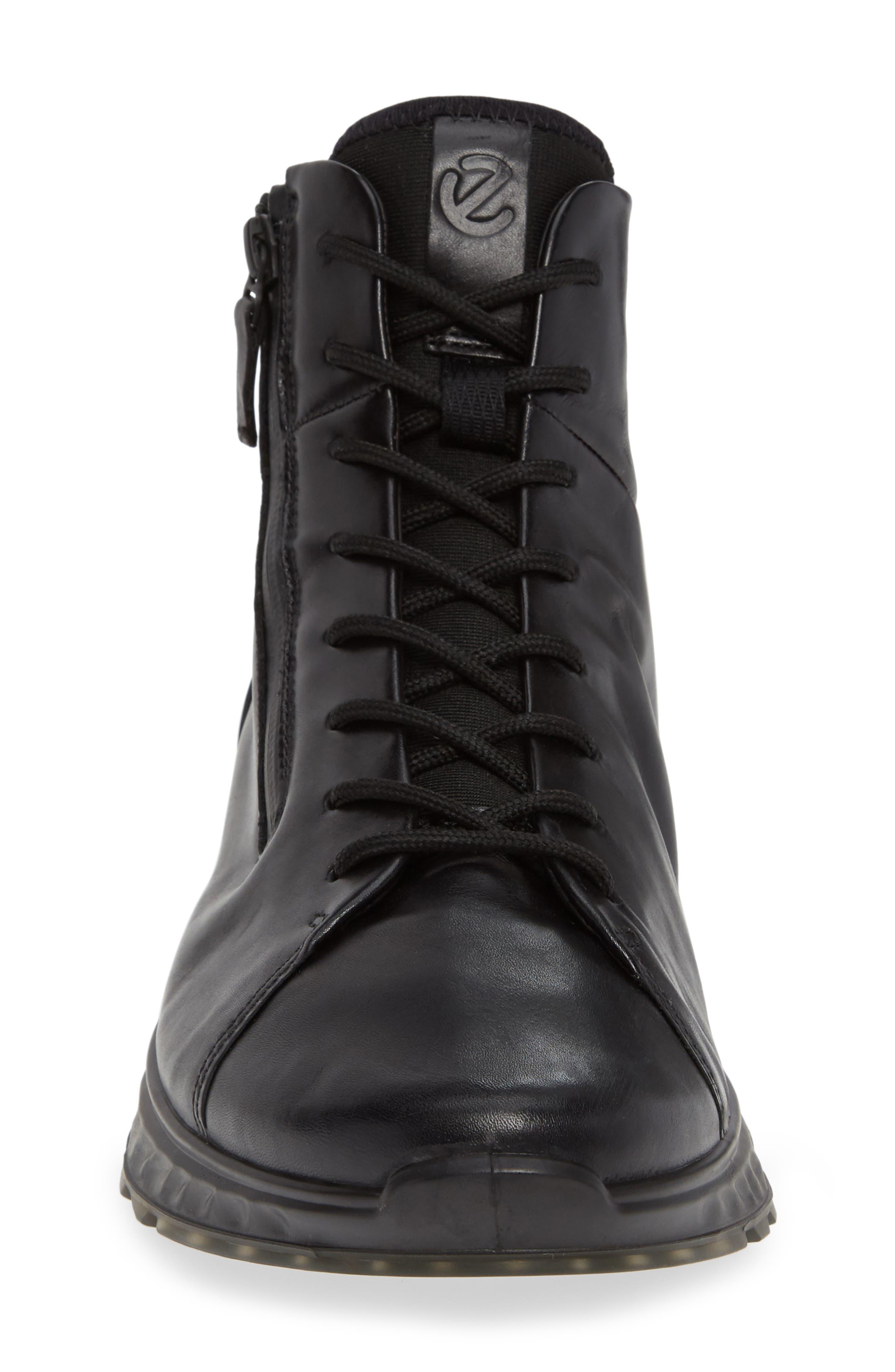 ST1 High Top Sneaker,                             Alternate thumbnail 4, color,                             BLACK/BLACK LEATHER